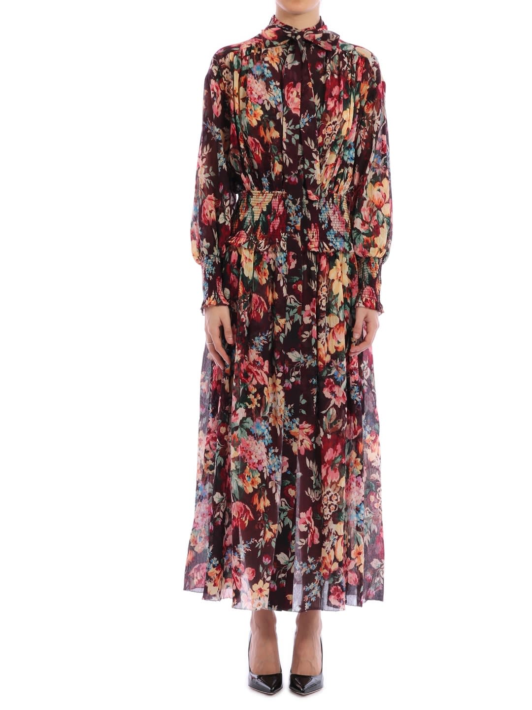 Buy Zimmermann Allia Shirred Maxi Dress online, shop Zimmermann with free shipping
