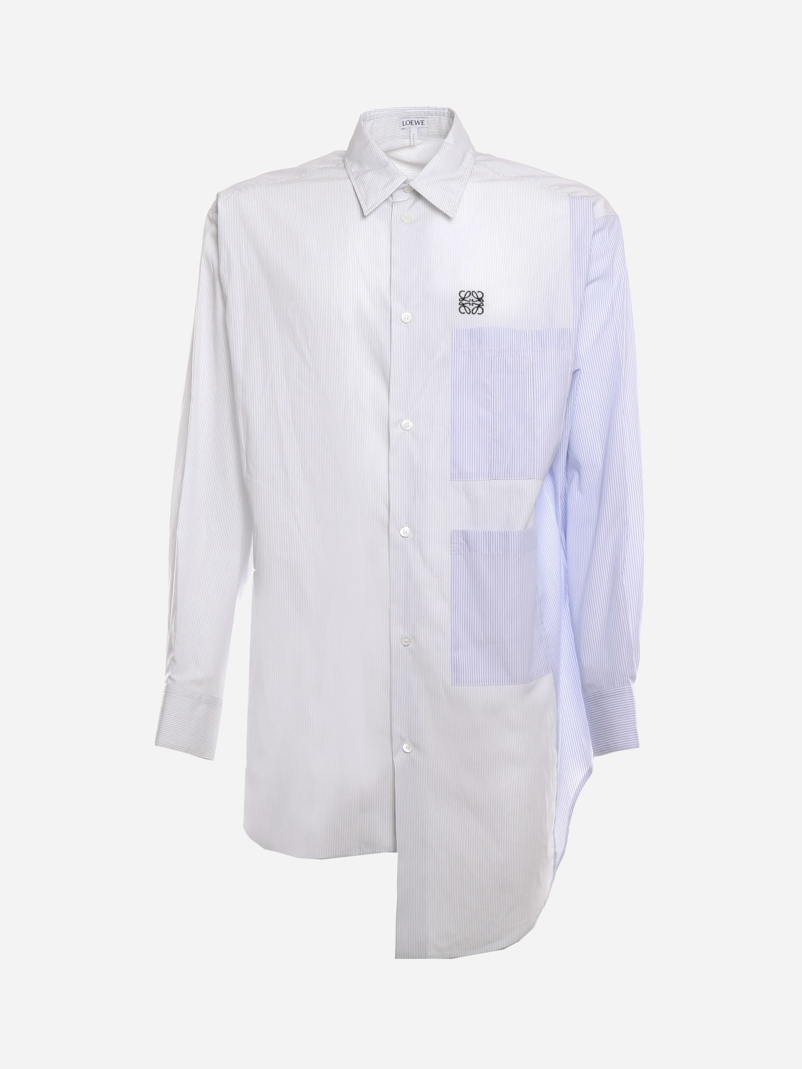 Loewe MULTIPOCKET ASYMMETRIC SHIRT IN COTTON