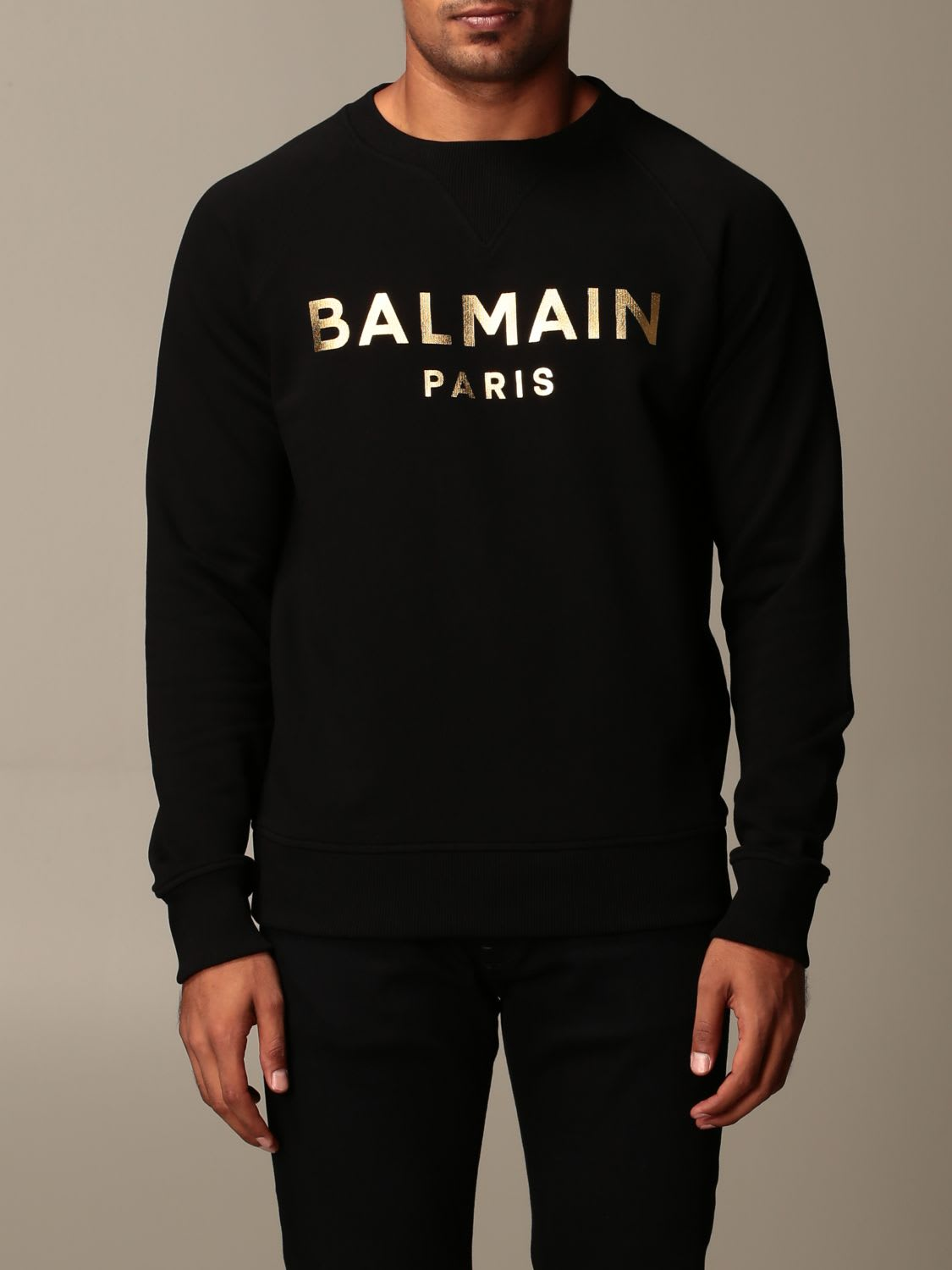 Balmain Sweatshirt Balmain Cotton Sweatshirt With Laminated Logo