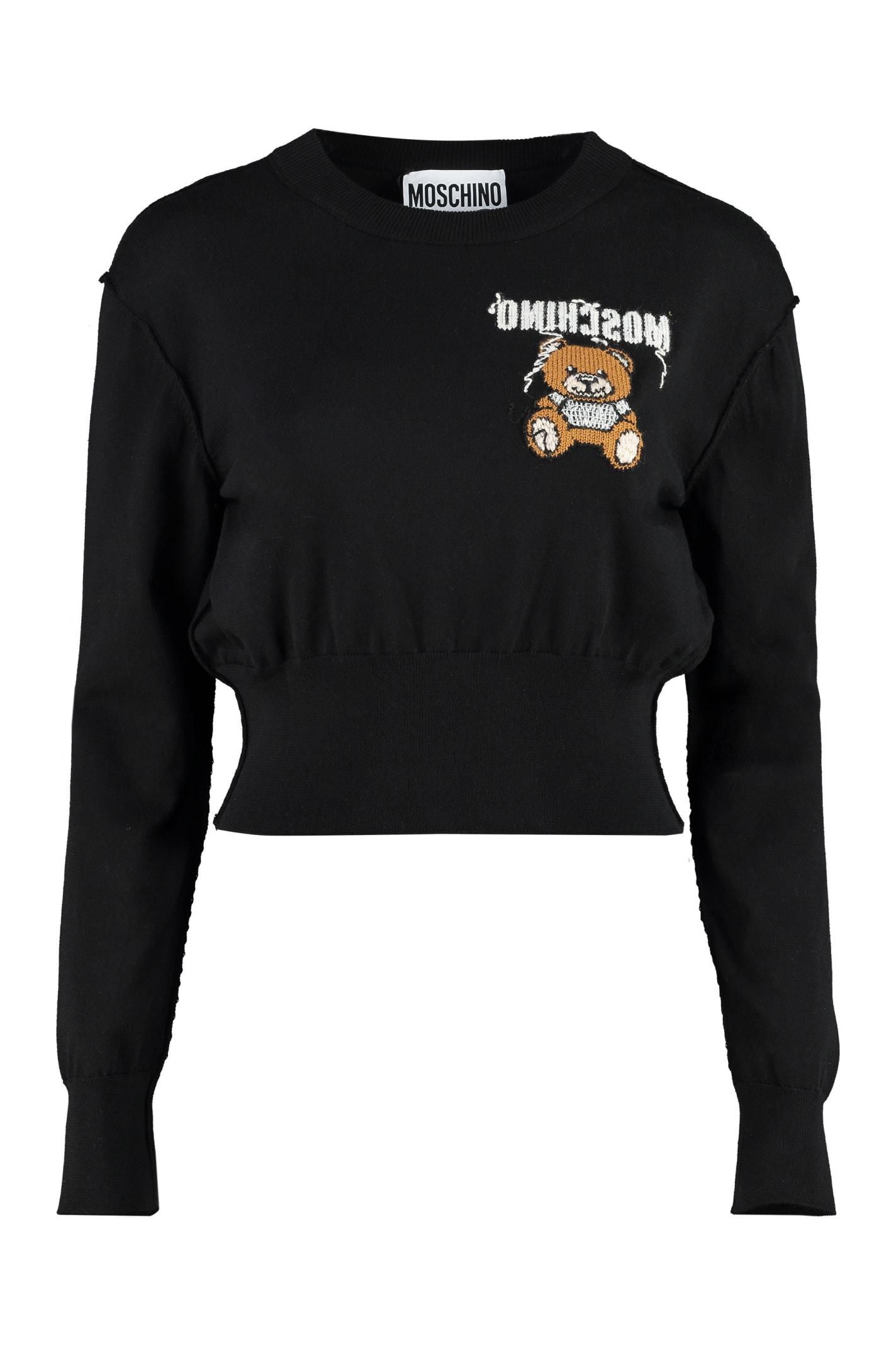 Moschino Embroidered Crew-neck Sweater