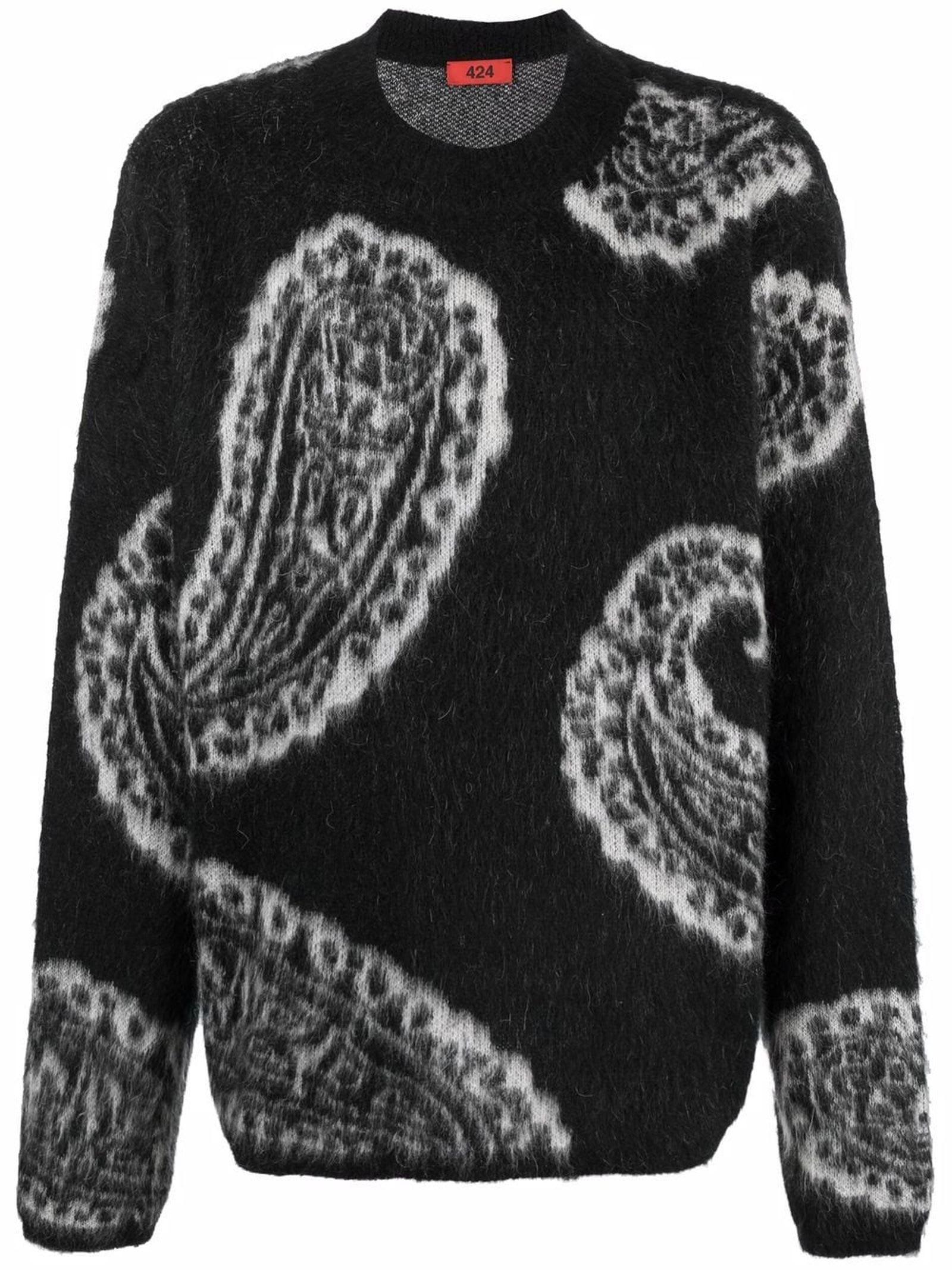 Black Intarsia Knit Jumper