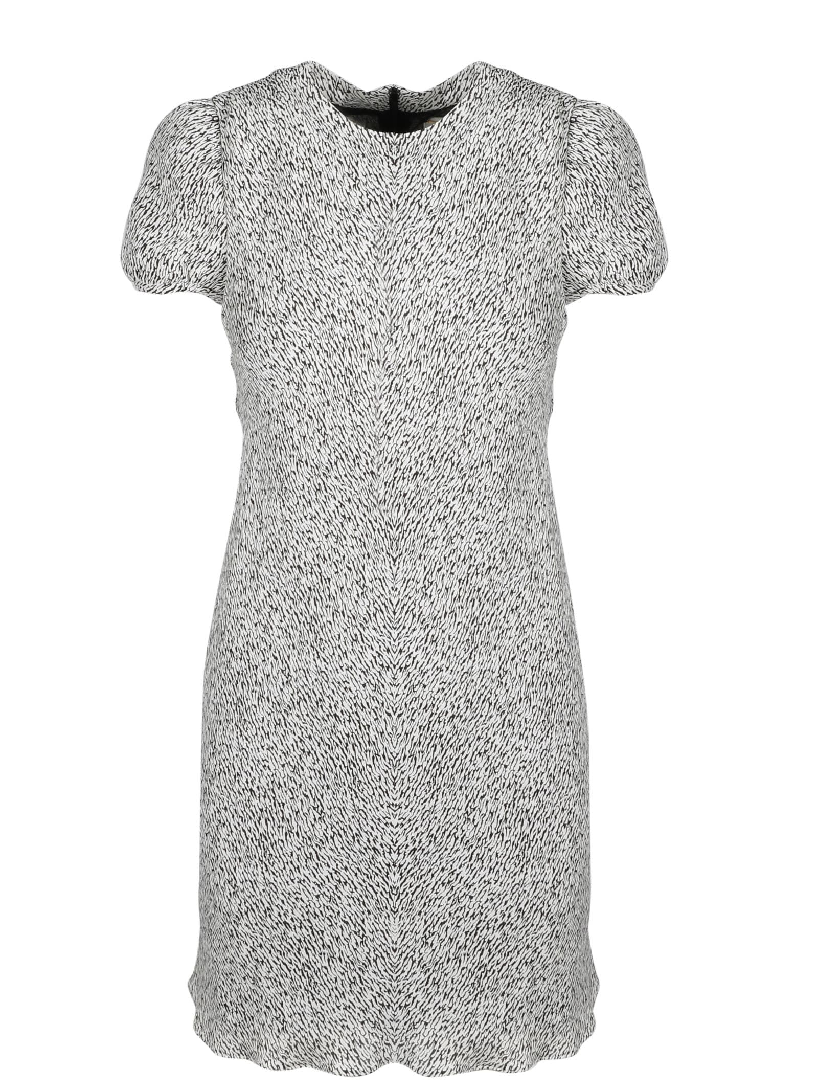 Buy Saint Laurent Zebrated Flared Dress online, shop Saint Laurent with free shipping