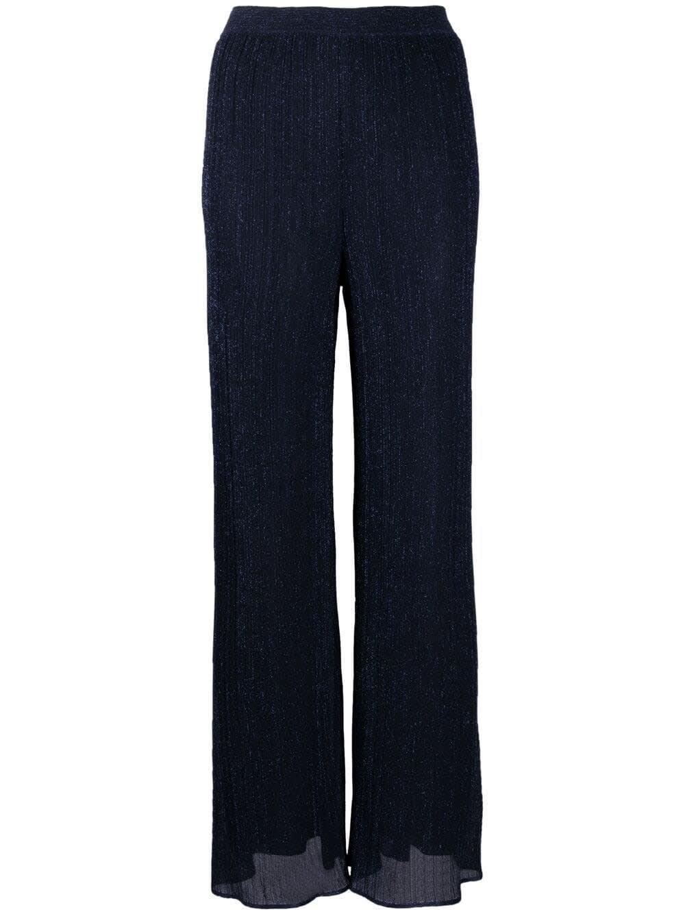 M Missoni Pants VISCOSE PANTS IN BLUE LUREX