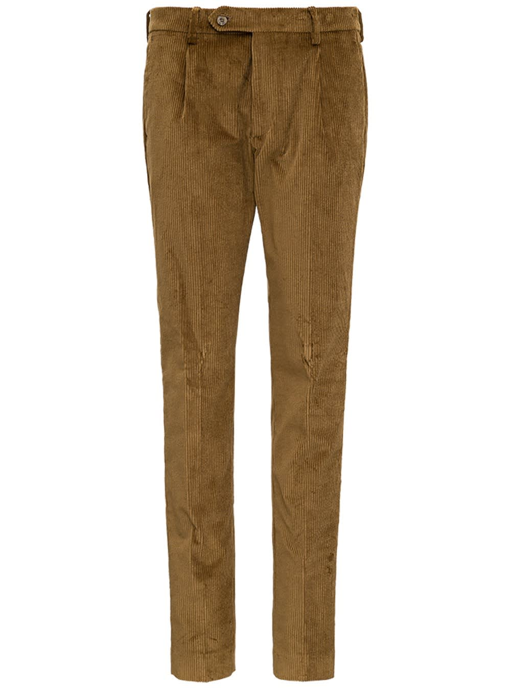 Camel Colored Velvet Pants