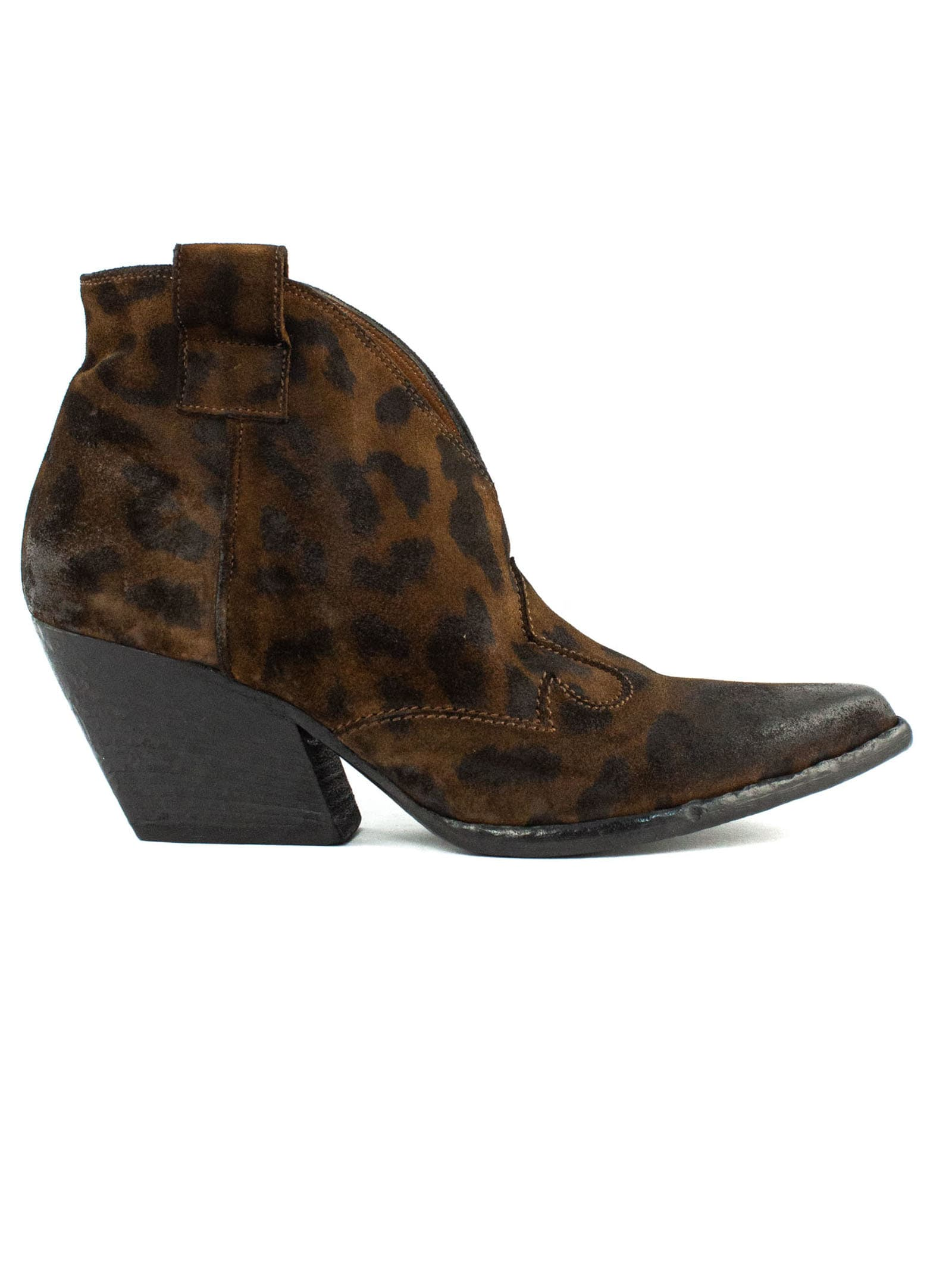 Texan Ankle Boot In Leopard Leather