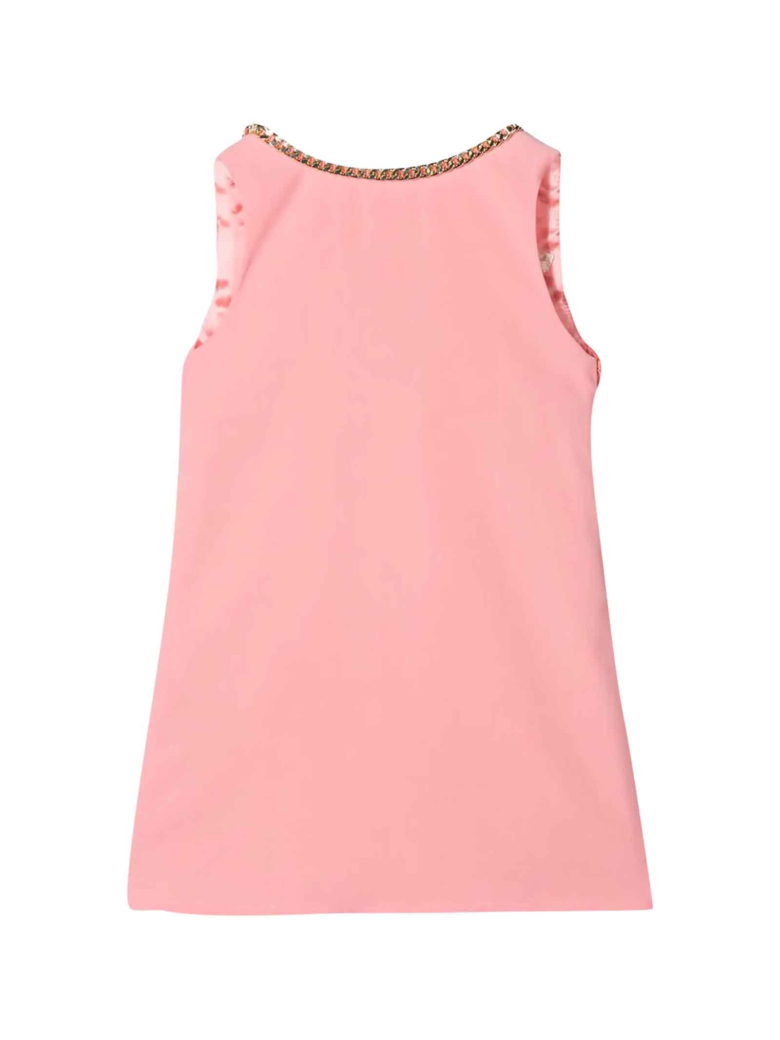Buy Elisabetta Franchi La Mia Bambina Pink Flared Teen Dress online, shop Elisabetta Franchi La Mia Bambina with free shipping