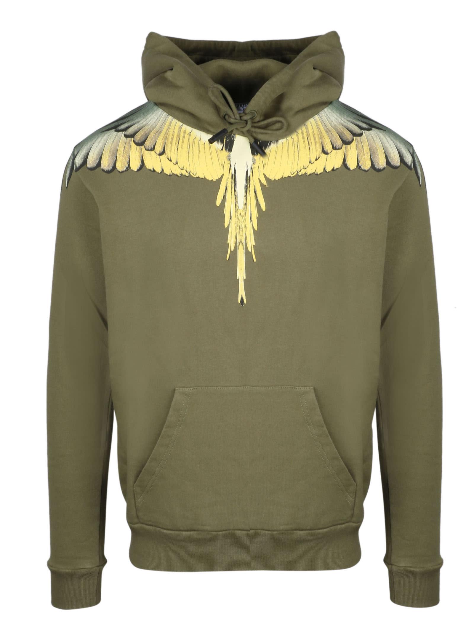 Marcelo Burlon Ocher Wings Regular Hoodie