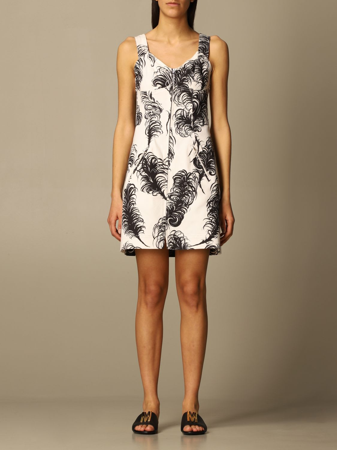 Moschino Couture Dress Moschino Couture Dress With Feather Print