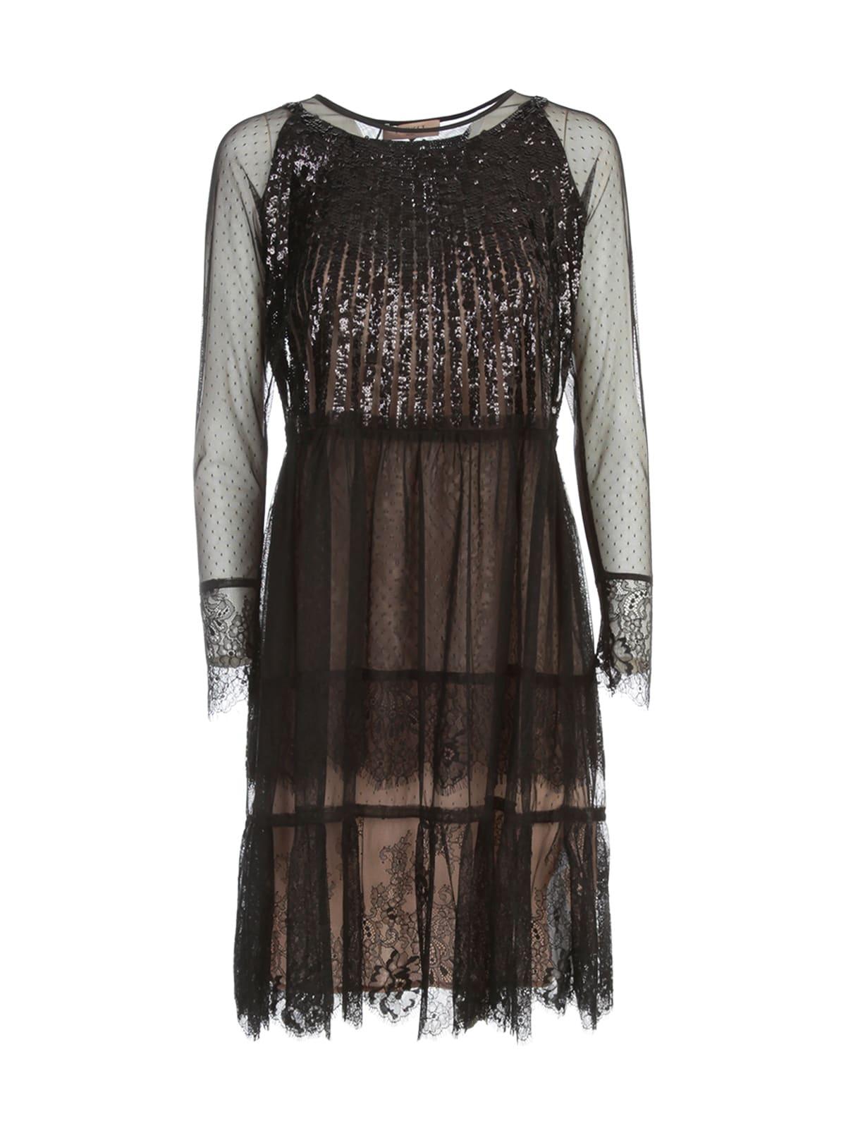 TwinSet Laced Dress L/s W/paillettes