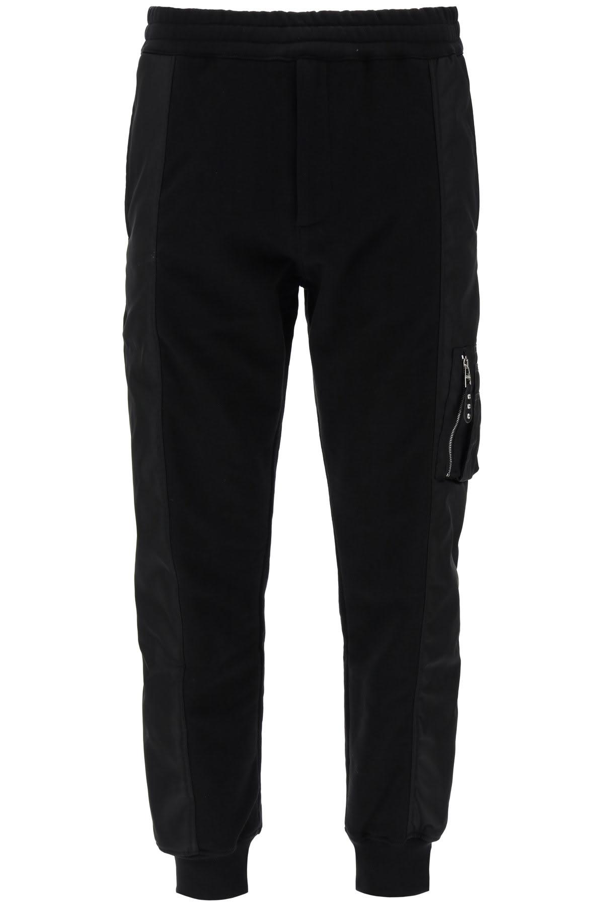 Alexander McQueen Bi-material Jogger Pants