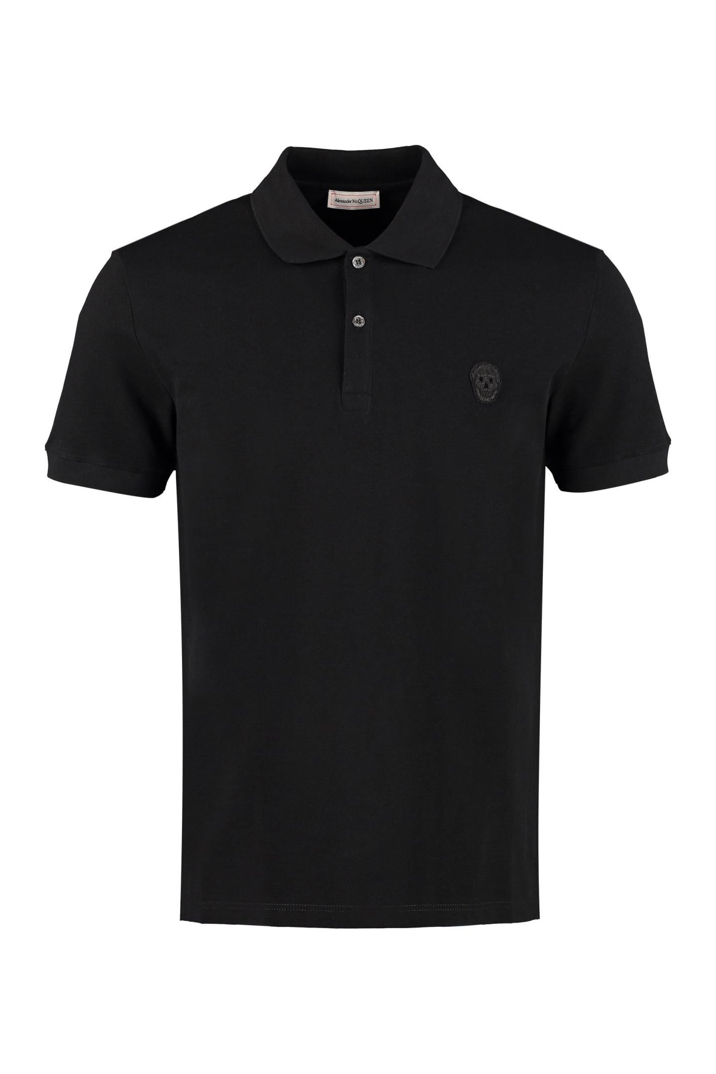 Alexander McQueen Cotton Piqué Polo Shirt With Patch