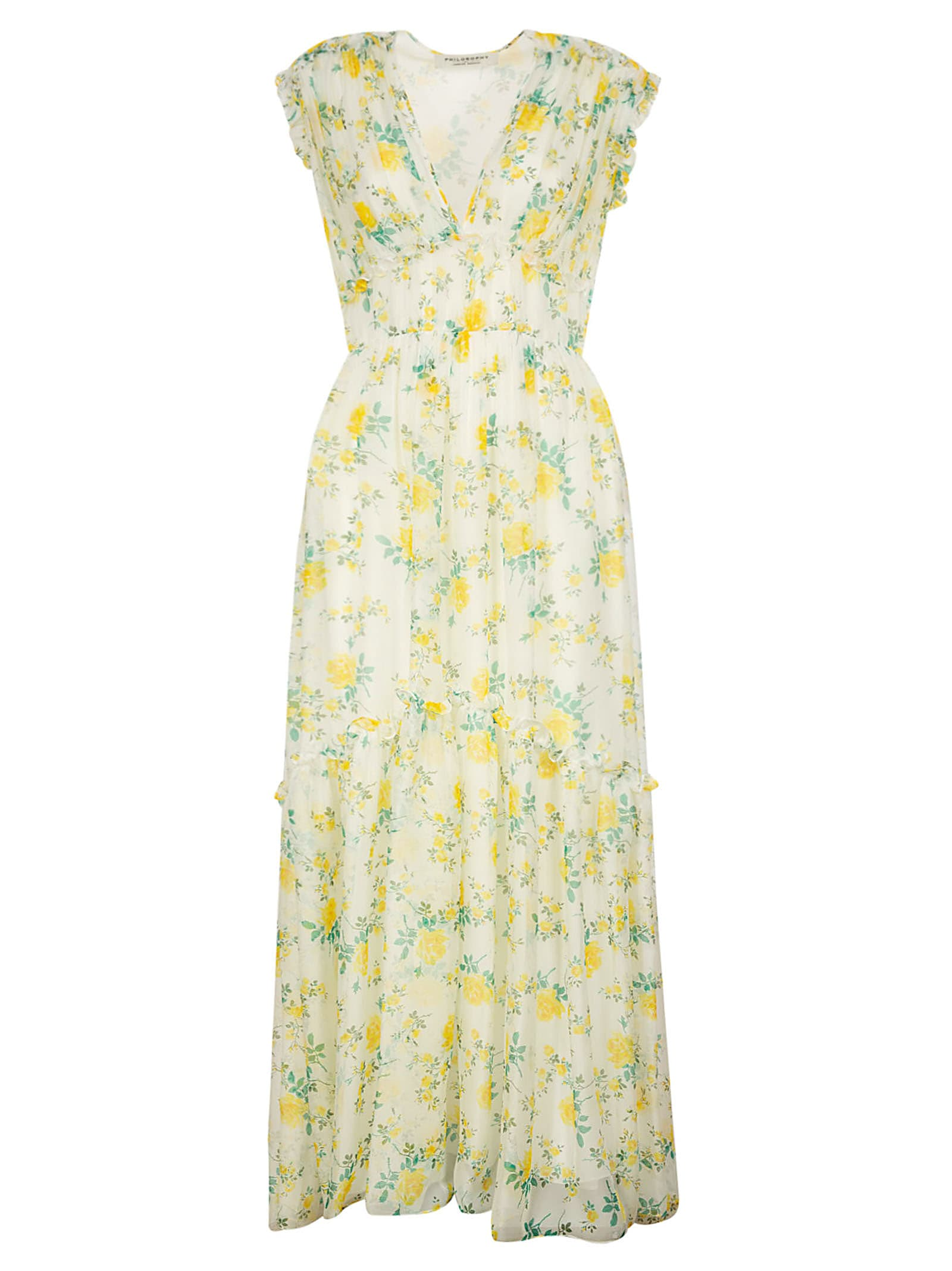 Buy Philosophy di Lorenzo Serafini Floral Sleeveless Maxi Dress online, shop Philosophy di Lorenzo Serafini with free shipping