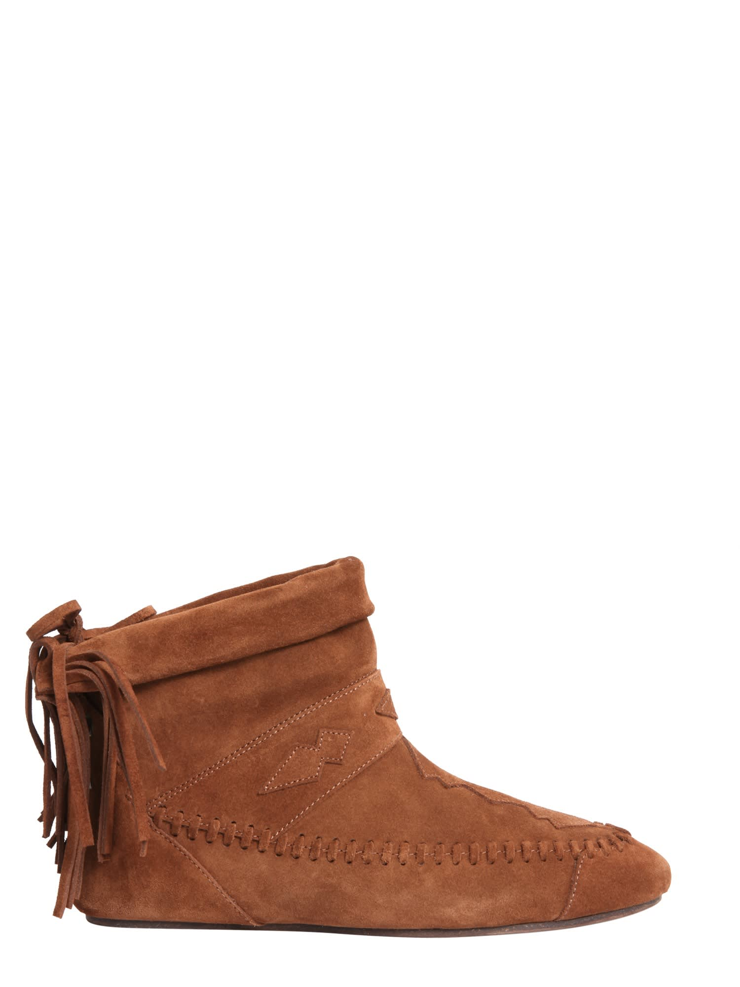 Buy Saint Laurent Nino Fringed Boots online, shop Saint Laurent shoes with free shipping