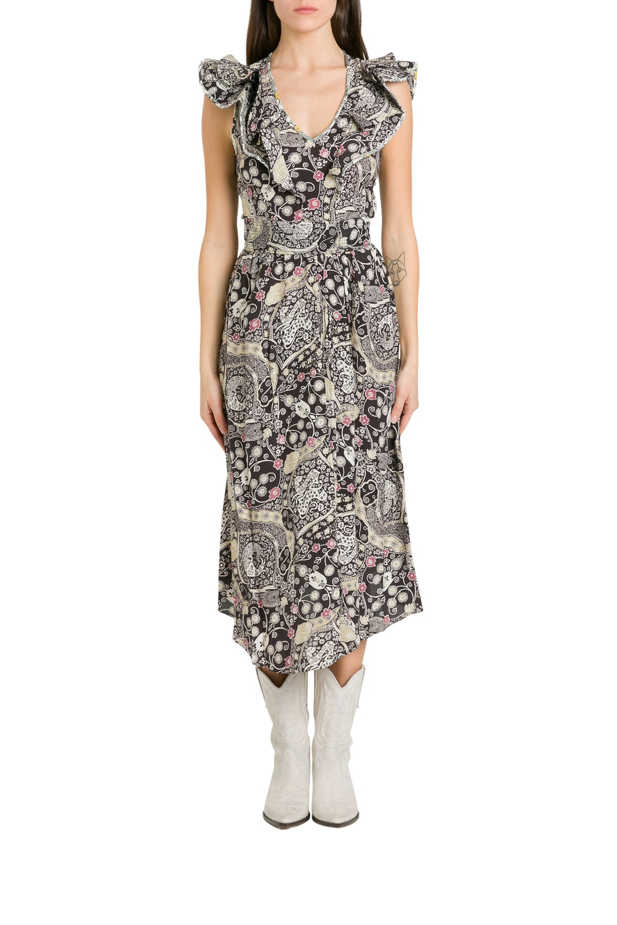 Buy Isabel Marant Étoile Coraline Asymmetric Dress online, shop Isabel Marant Étoile with free shipping