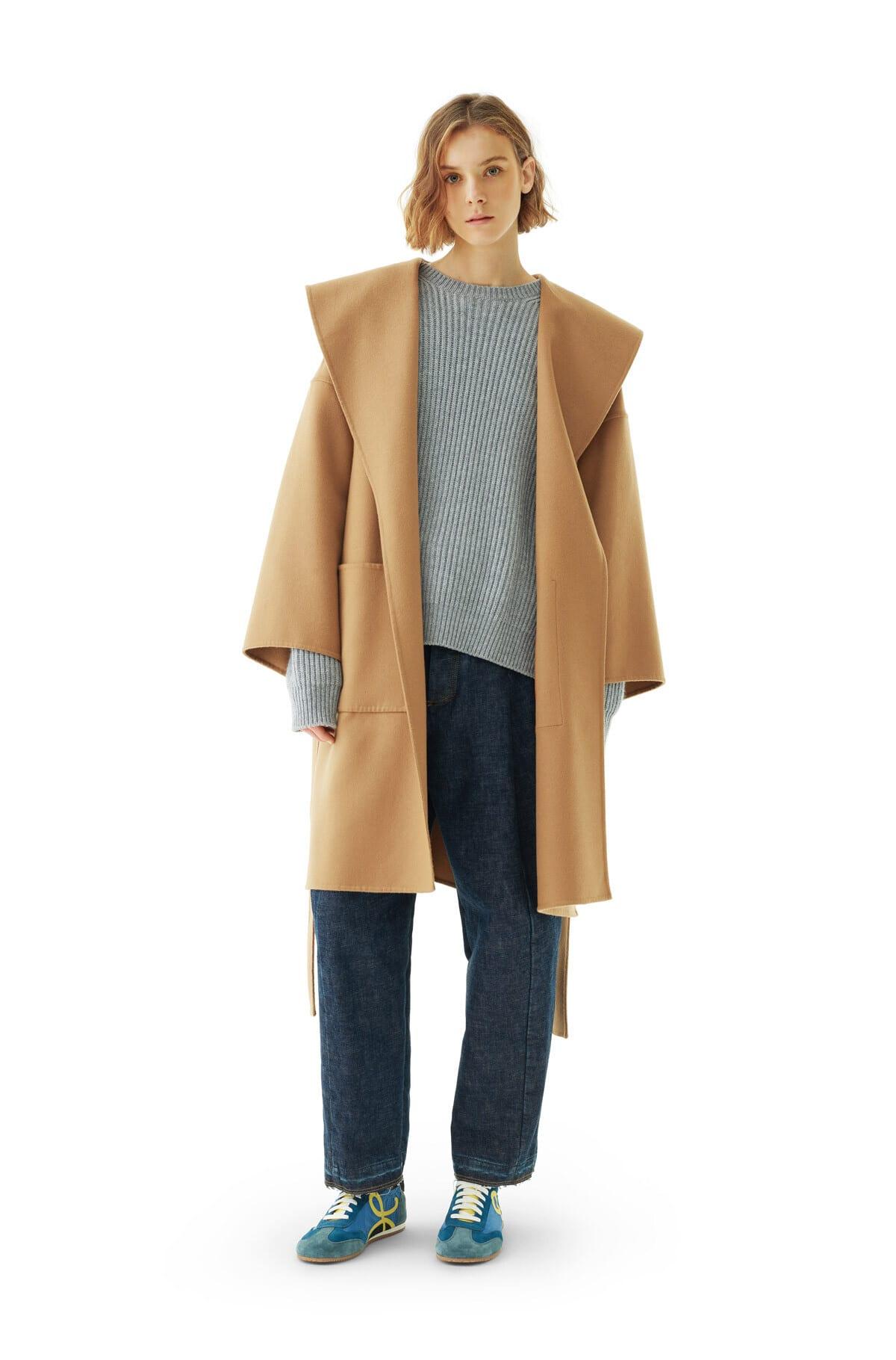 Loewe Hooded Coat Belted