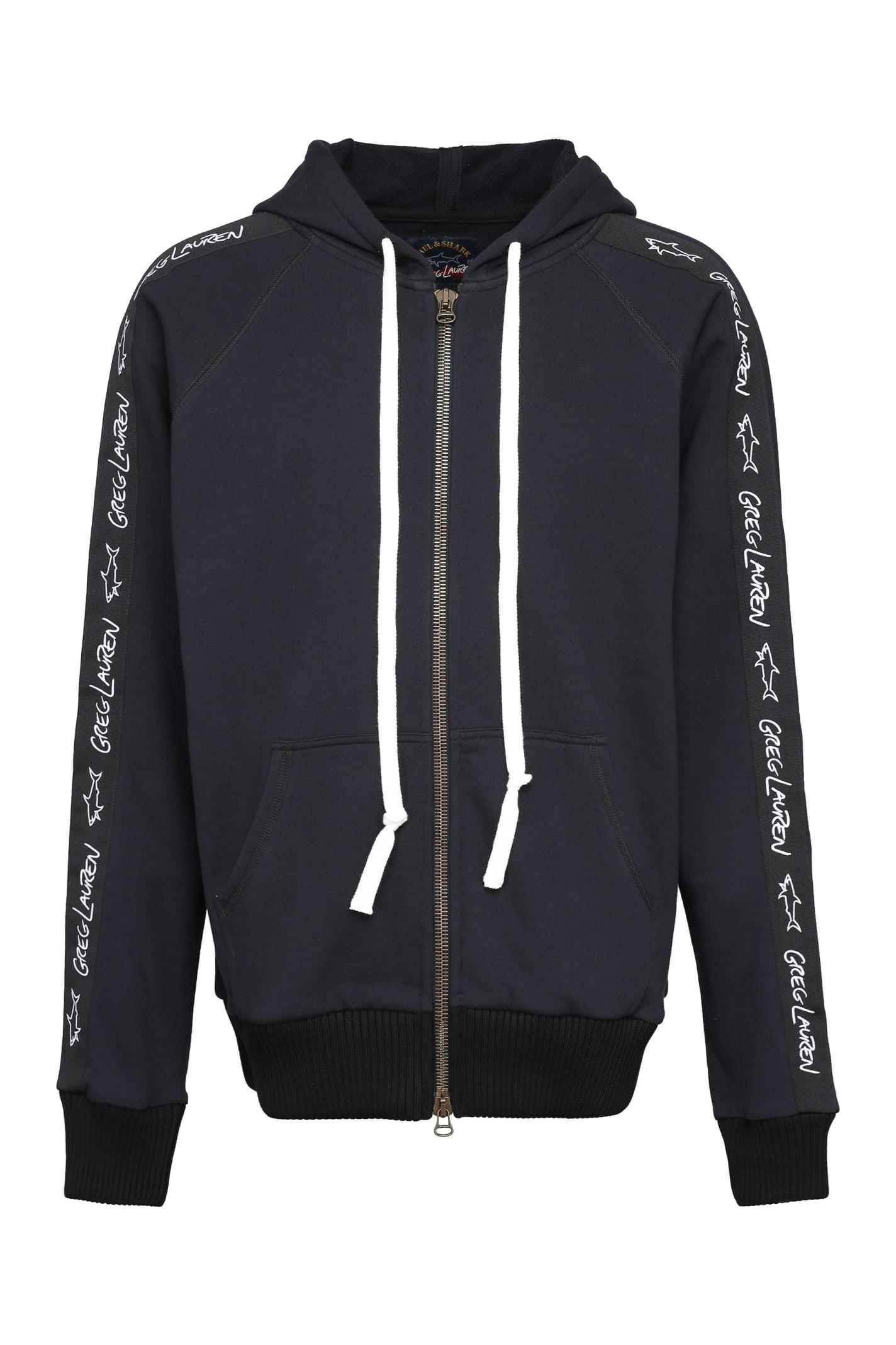 Paul & Shark Full Zip Sweatshirt With Side Stripes
