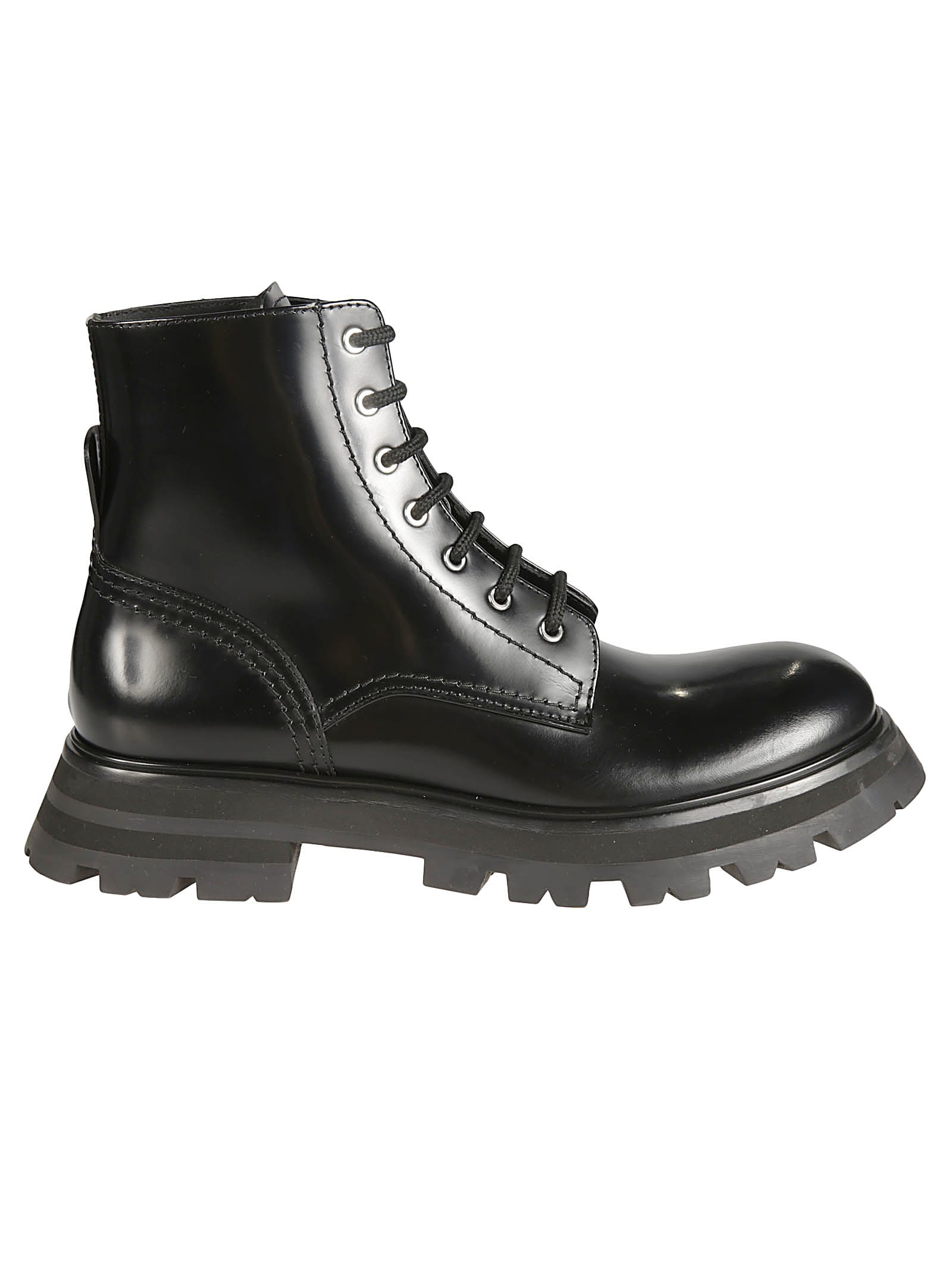 Buy Alexander McQueen Classic Lace-up Boots online, shop Alexander McQueen shoes with free shipping