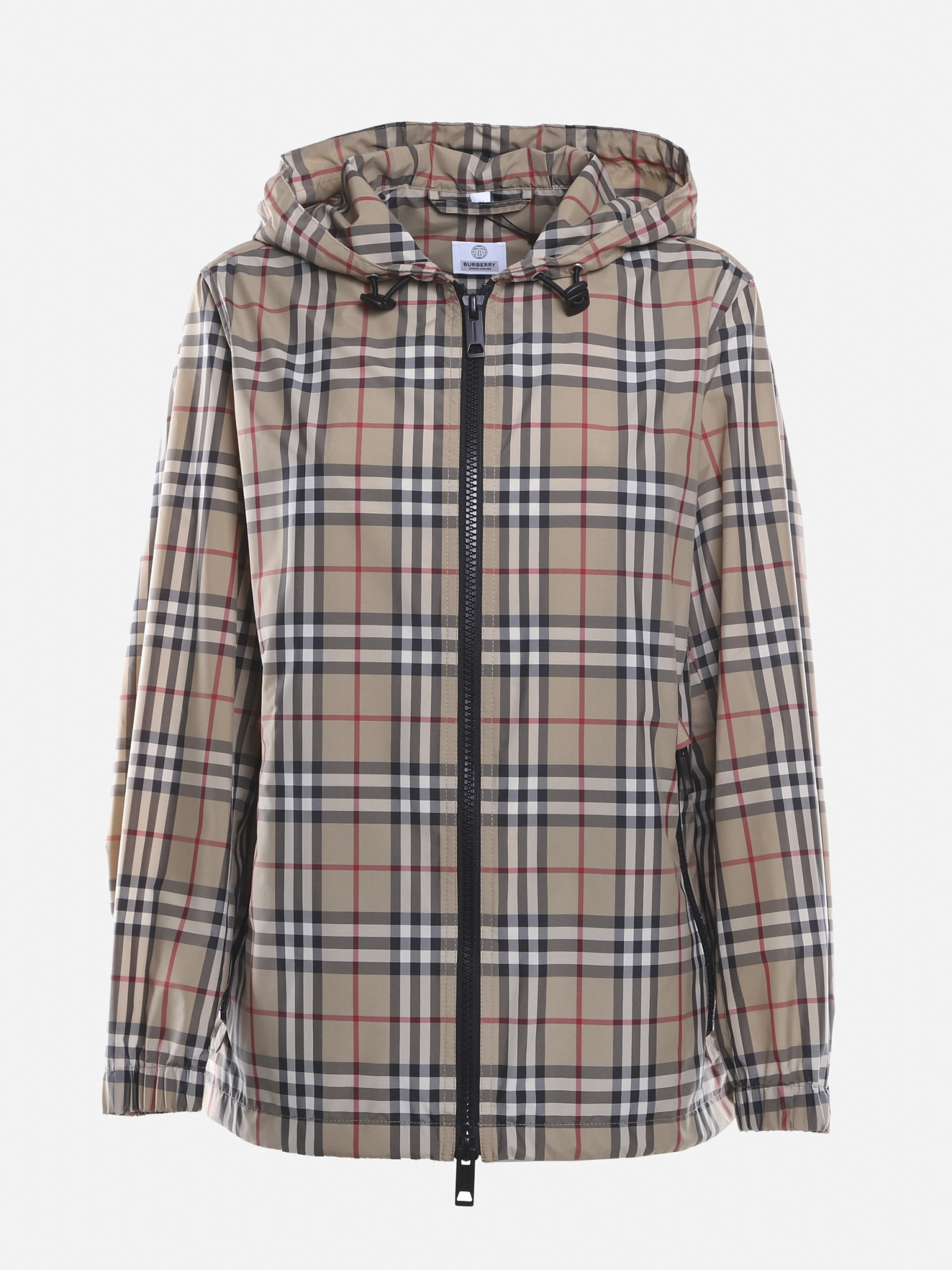 Burberry Taffeta Jacket With All-over Vintage Check Pattern