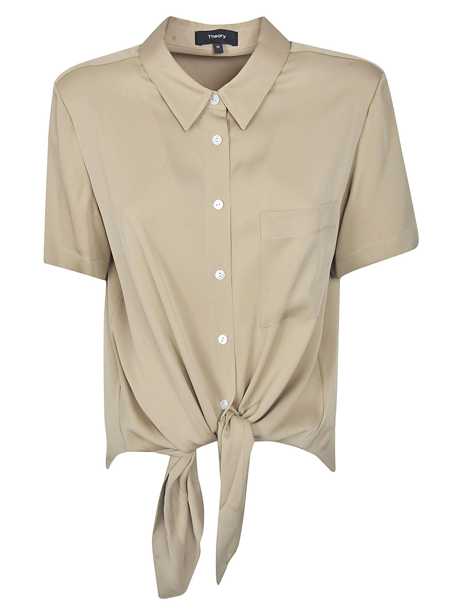 Theory Hem-tie Shirt