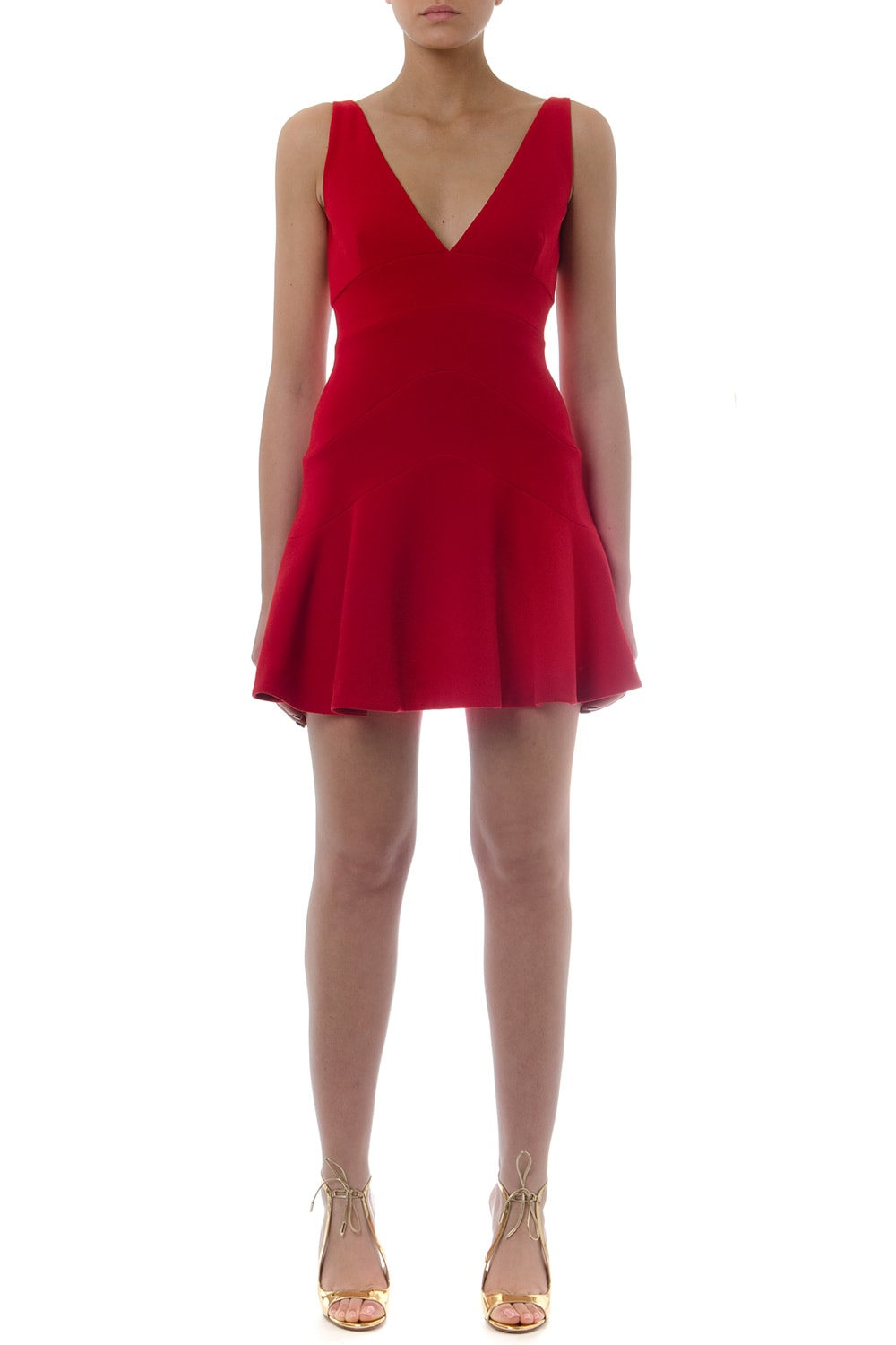Dsquared2 Red Peplum Mini Dress
