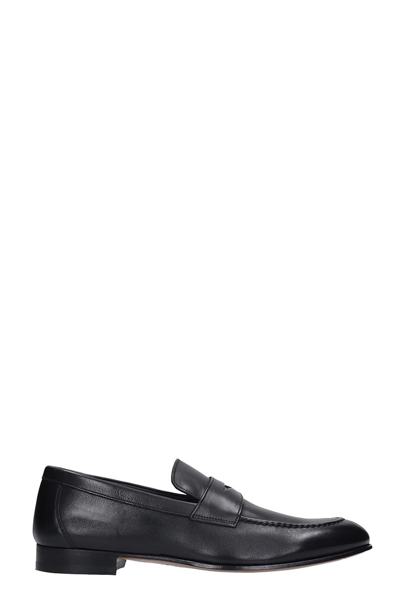 J. Wilton Loafers In Black Leather