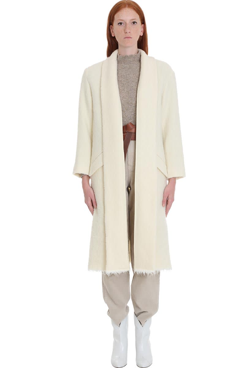 Isabel Marant Étoile Faby Coat In Beige Wool