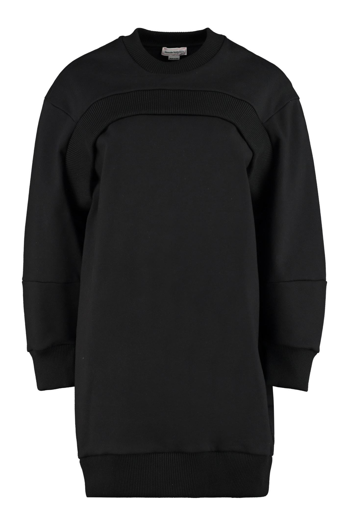 Alexander McQueen Logo Detail Cotton Sweatdress
