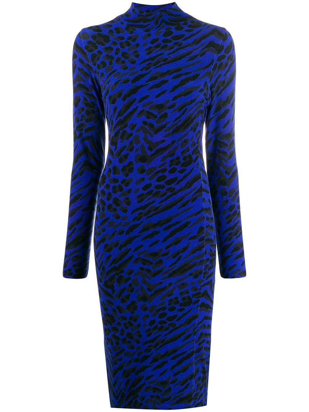 Blumarine Printed Animalier Dress