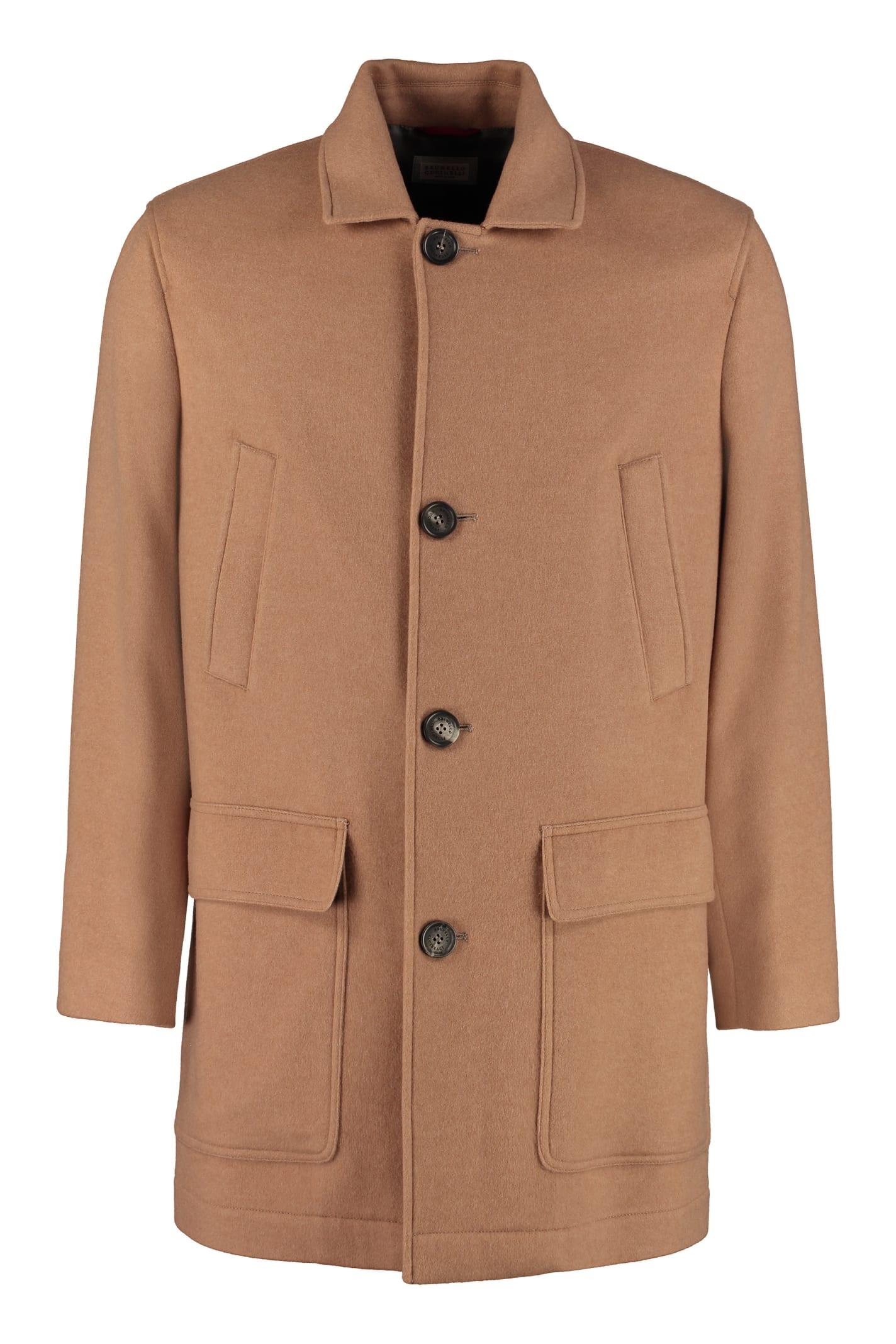 finest selection f09ac c46a9 Best price on the market at italist | Brunello Cucinelli Brunello Cucinelli  Cashmere Coat