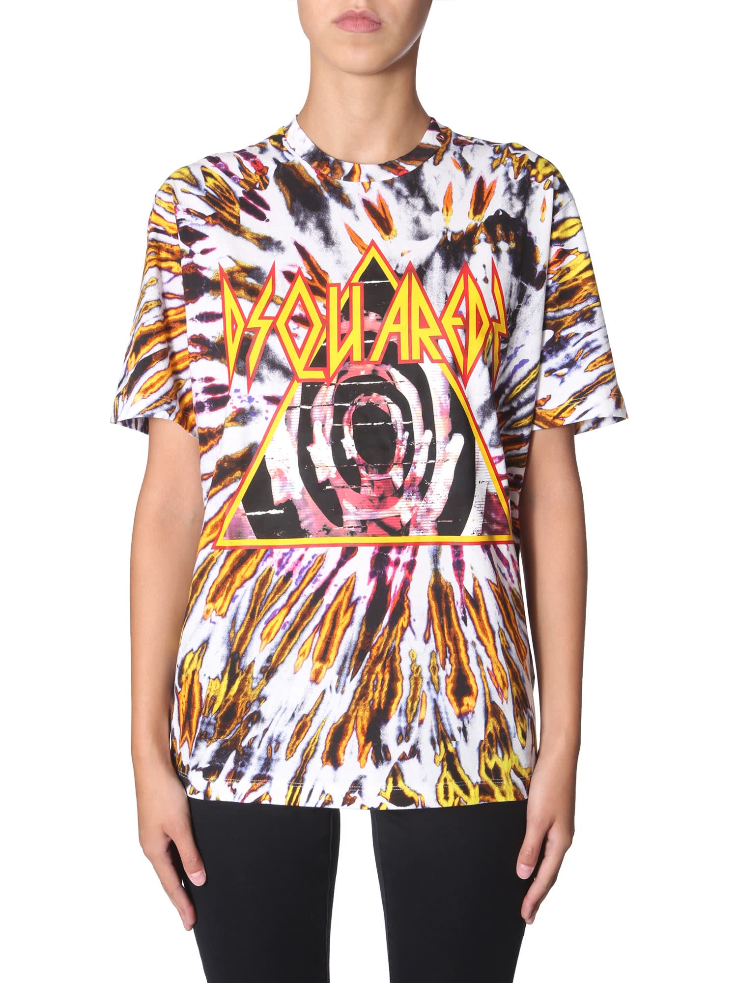 Dsquared2 Tie And Dye Print T-shirt