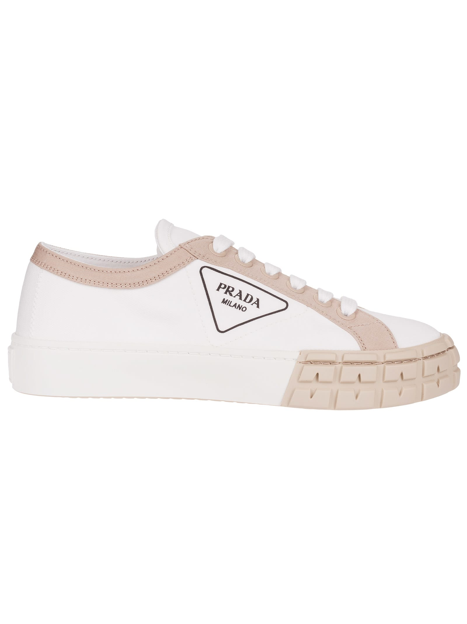 PRADA PATCHED LOGO SNEAKERS