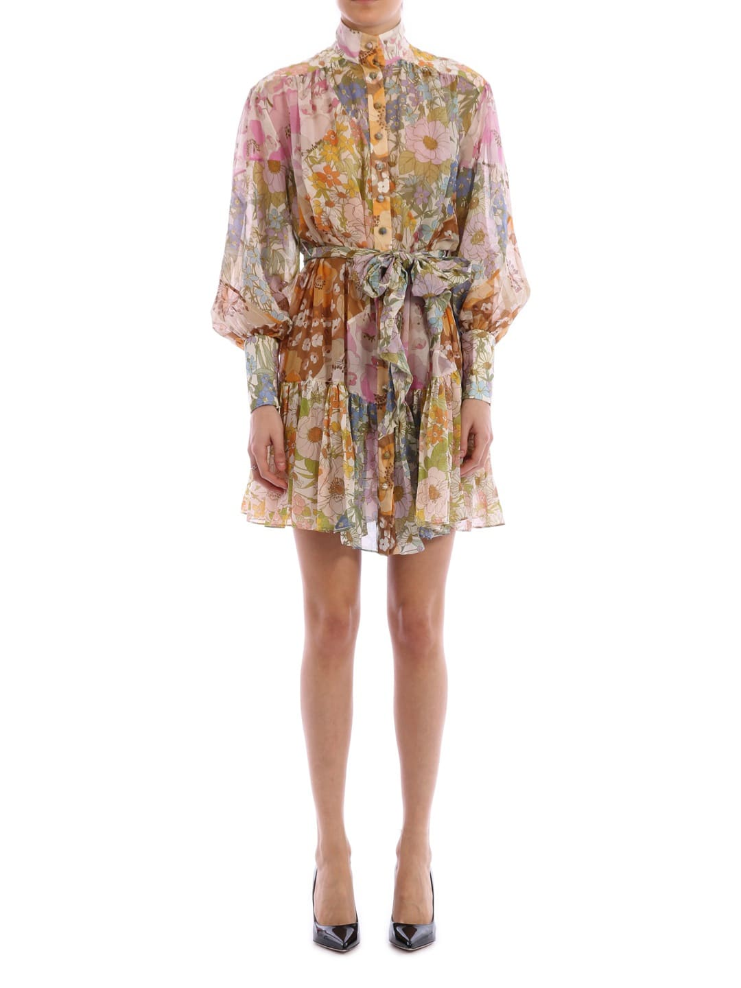 Buy Zimmermann Floral Mini Dress online, shop Zimmermann with free shipping