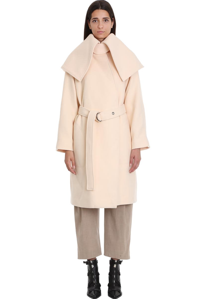Chloé Coat In Rose-pink Wool
