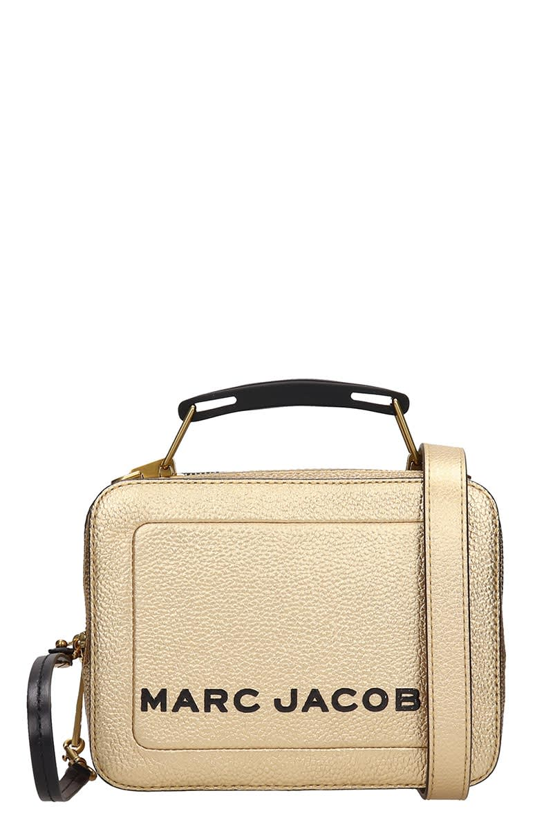 Marc Jacobs Hand Bag In Gold Leather