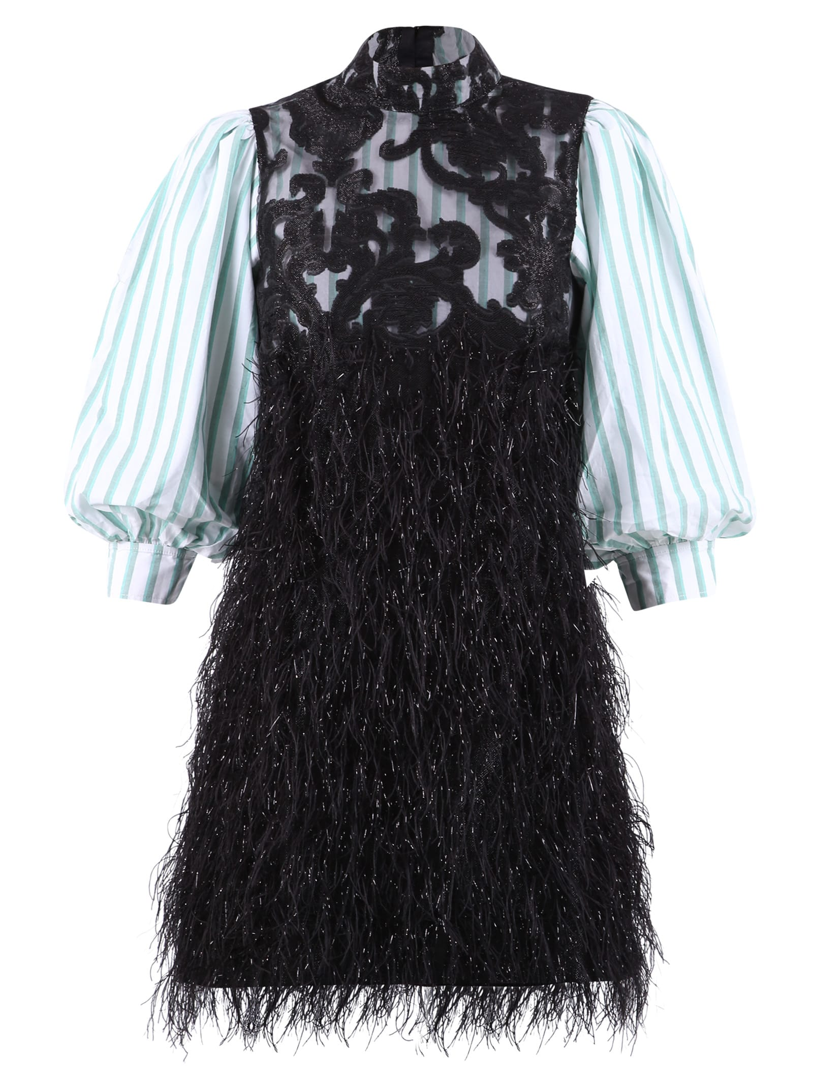 Buy Ganni Feathery Dress online, shop Ganni with free shipping