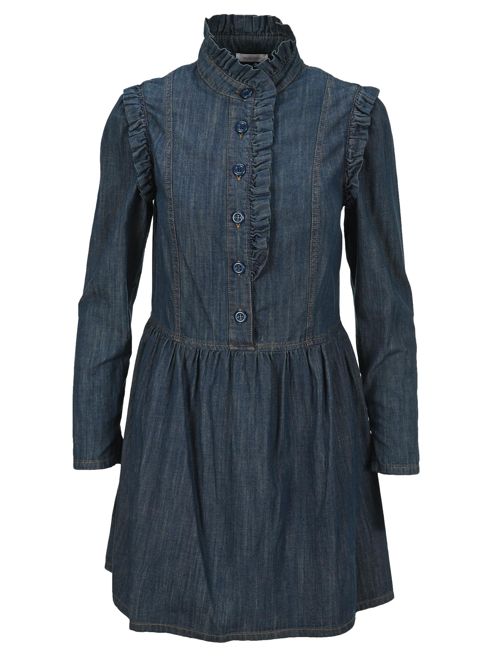 See By Chloé Denims SEE BY CHLOE RUFFLE DENIM DRESS