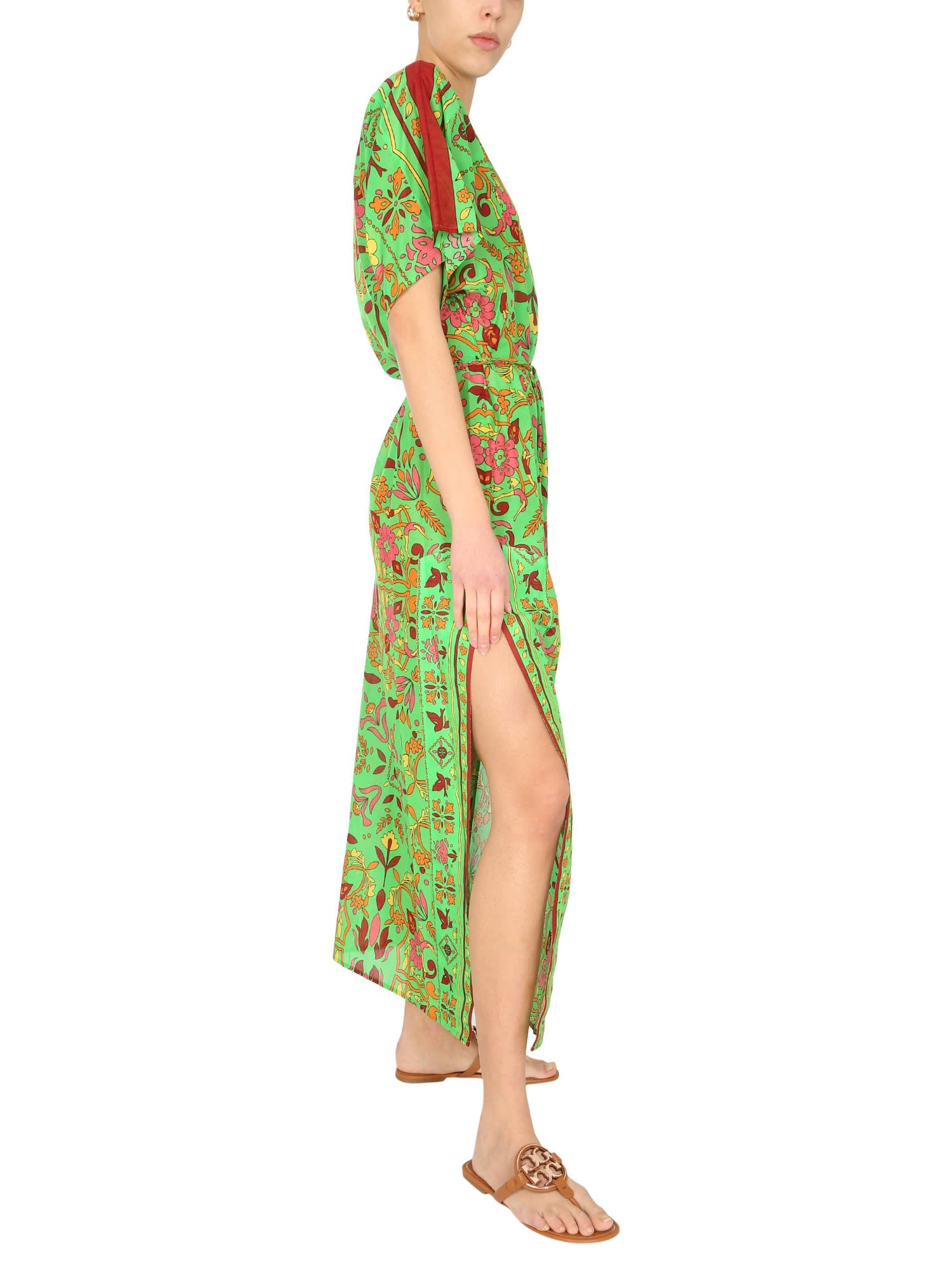 Tory Burch Caftan With Floral Pattern