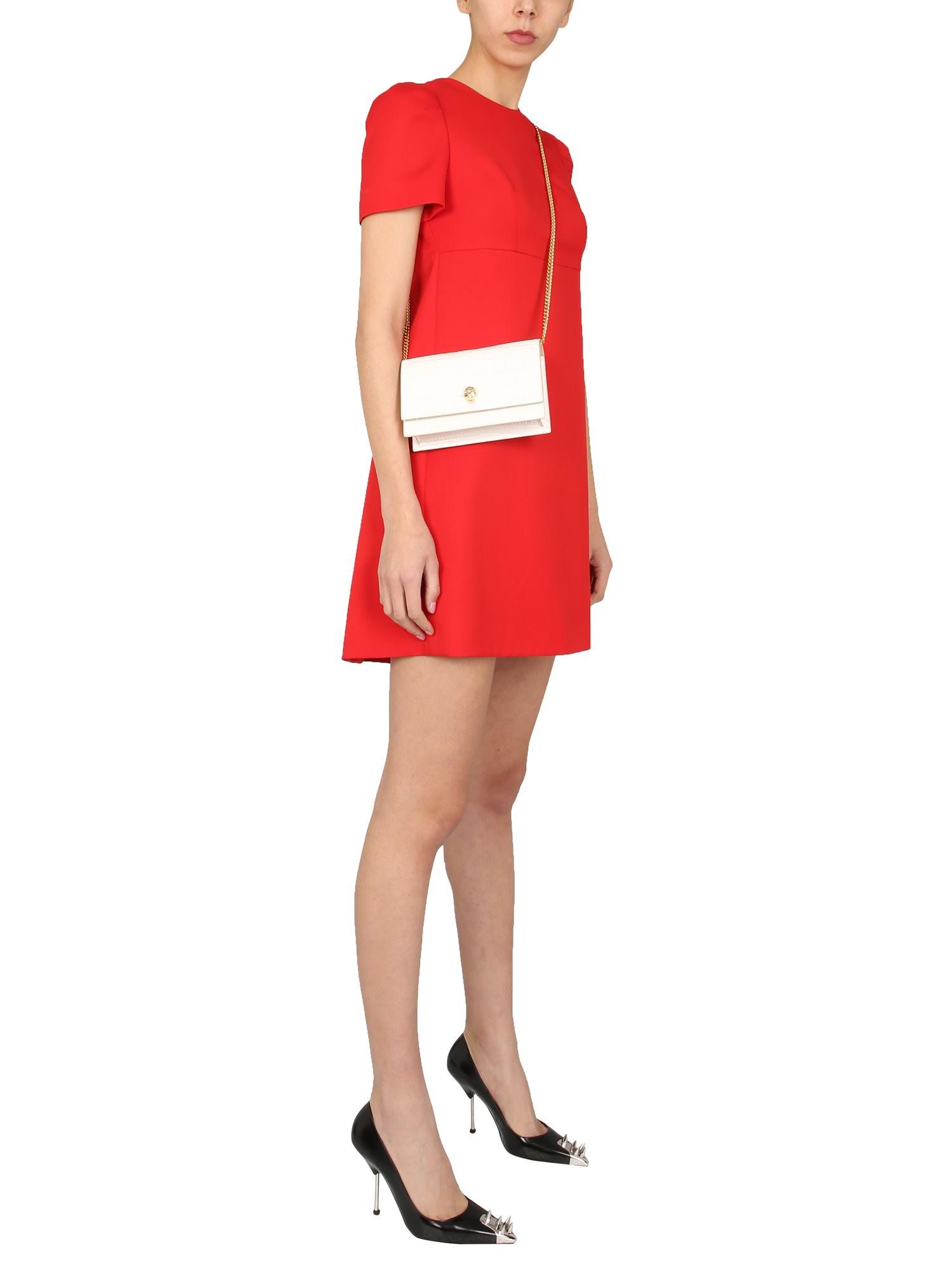 Buy Alexander McQueen Dress With Cape online, shop Alexander McQueen with free shipping