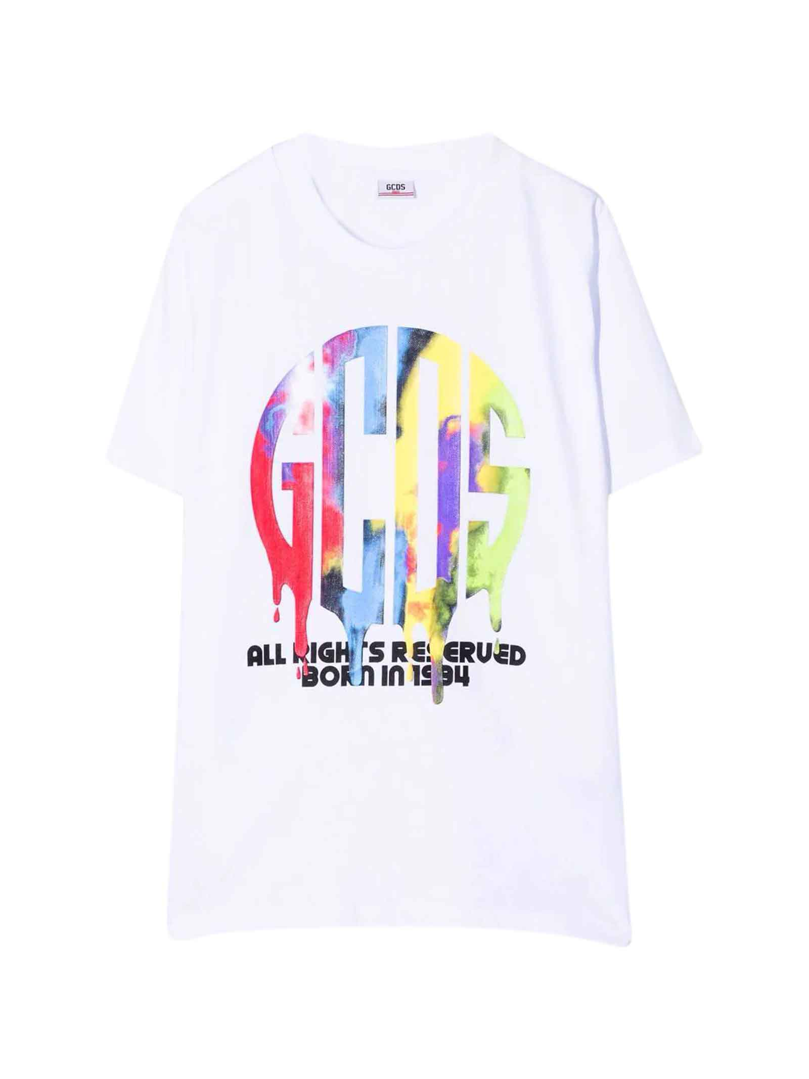 White Teen T-shirt With Multicolor Print