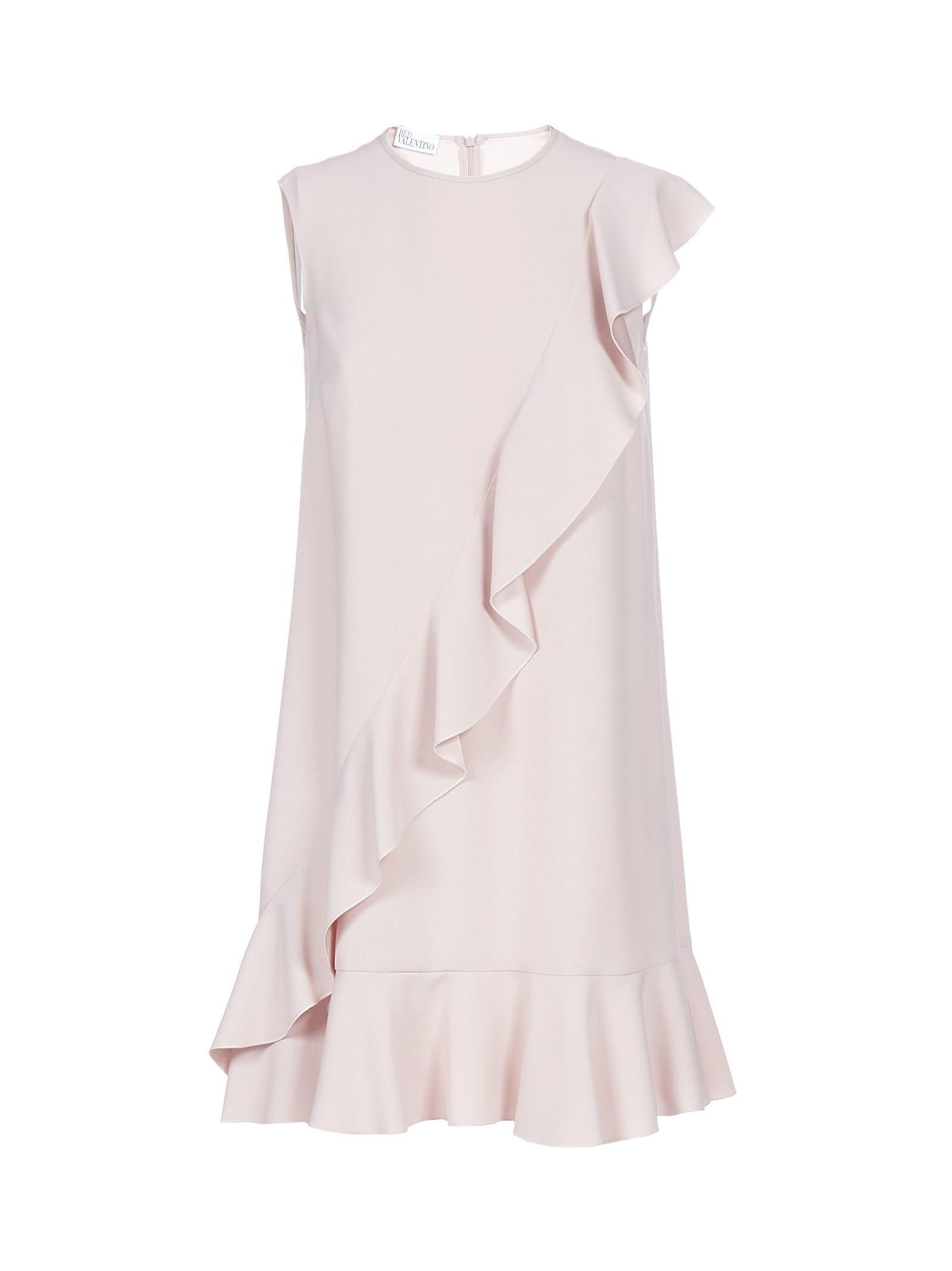 Buy RED Valentino Crepe With Ruffles Dress online, shop RED Valentino with free shipping