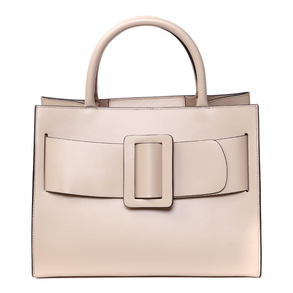 Bobby Ecru Leather Tote Bag