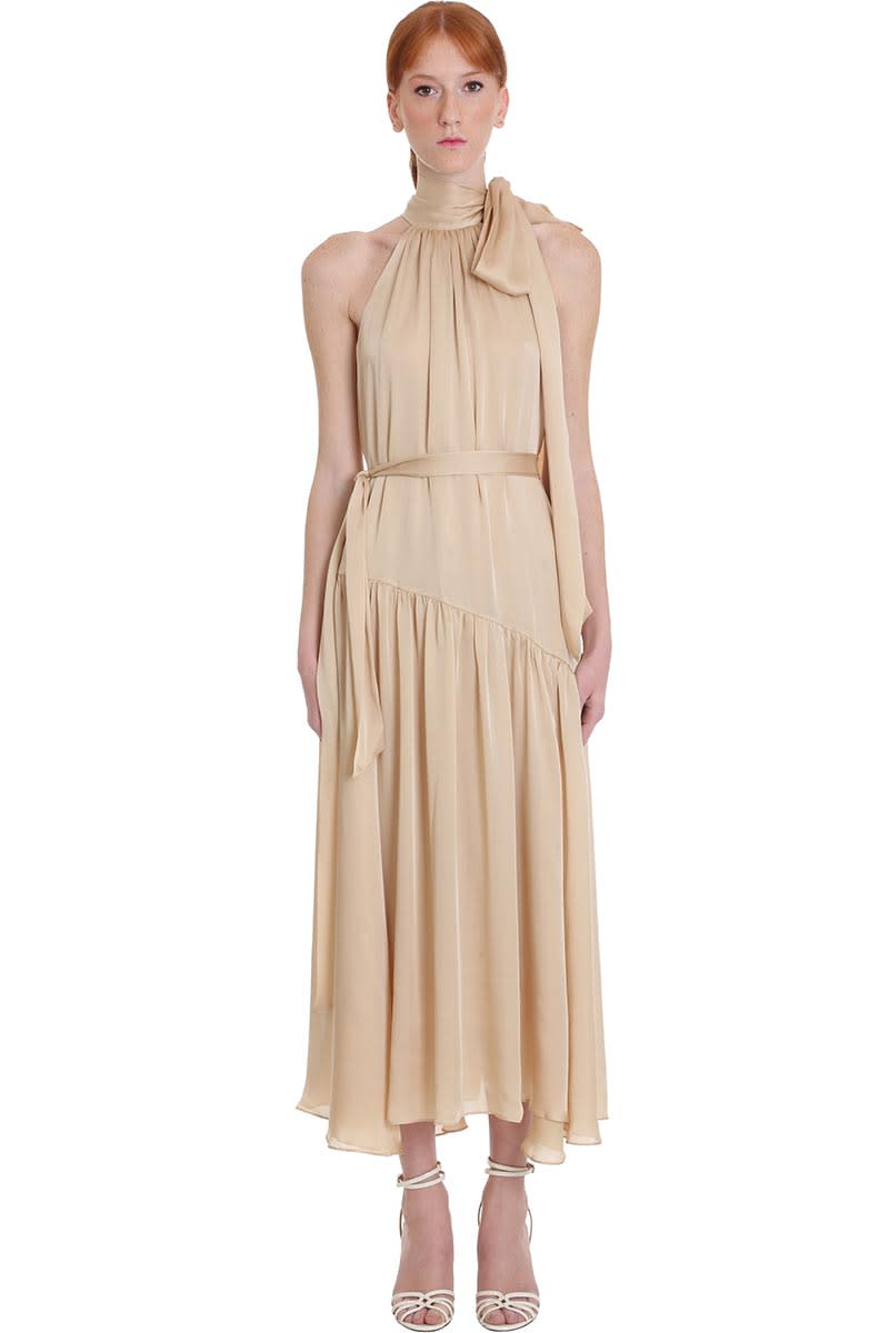Buy Zimmermann Dress In Beige Silk online, shop Zimmermann with free shipping