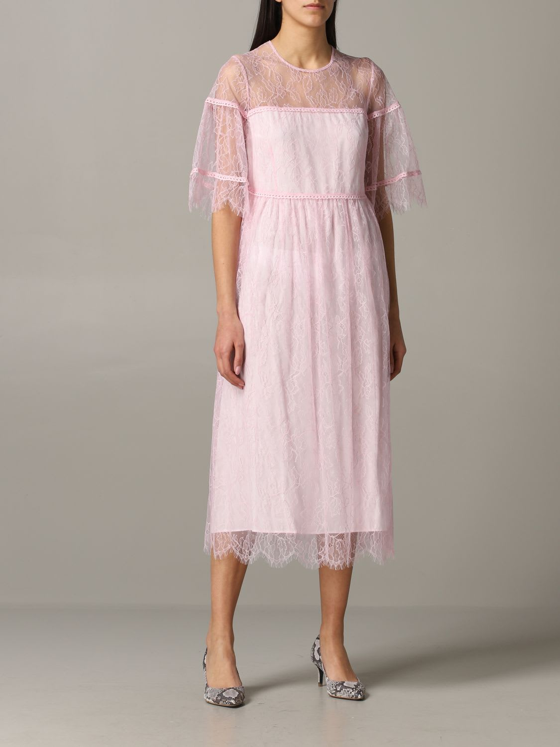 Buy Be Blumarine Dress Blumarine Lace Dress online, shop Be Blumarine with free shipping
