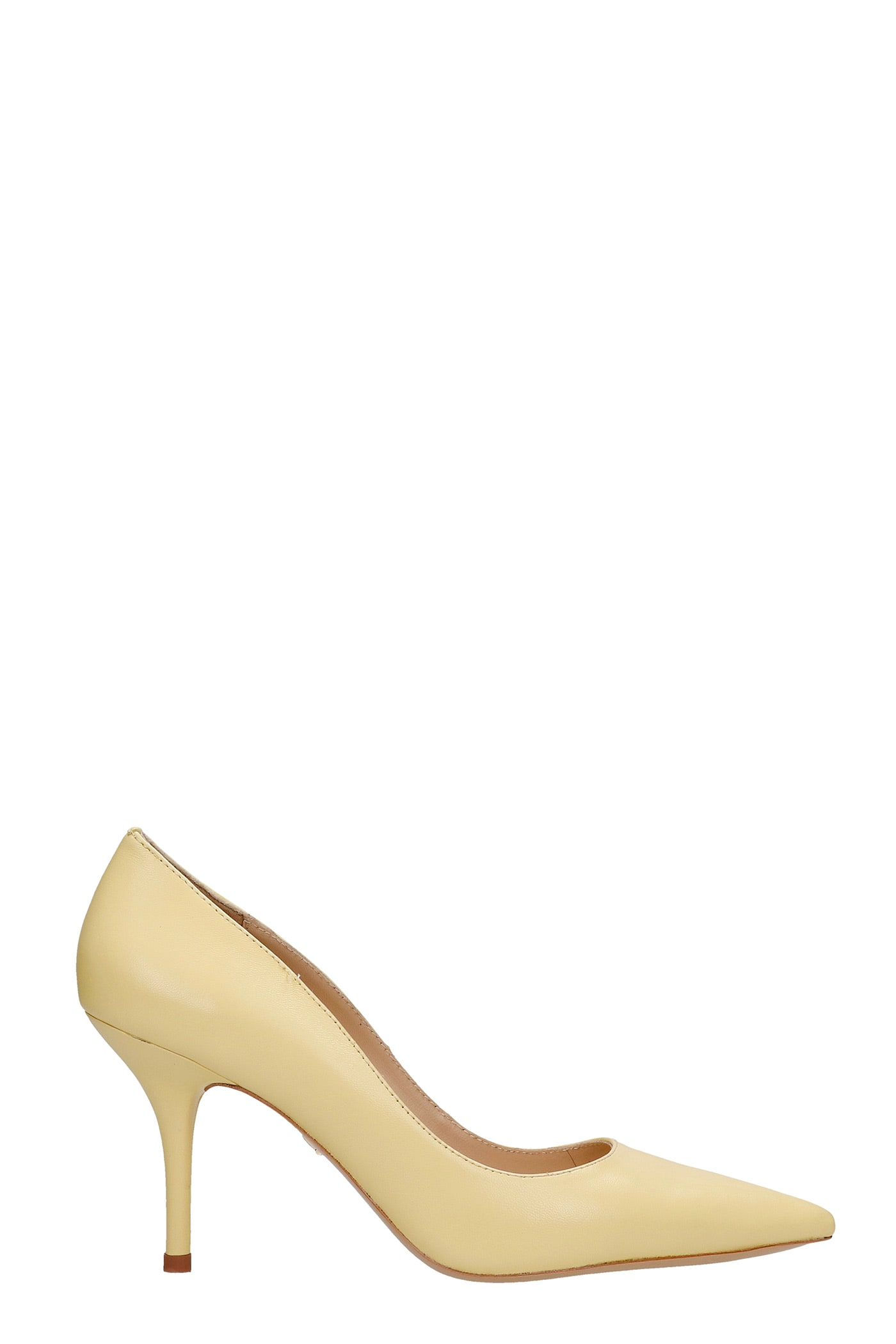 Pumps In Yellow Leather