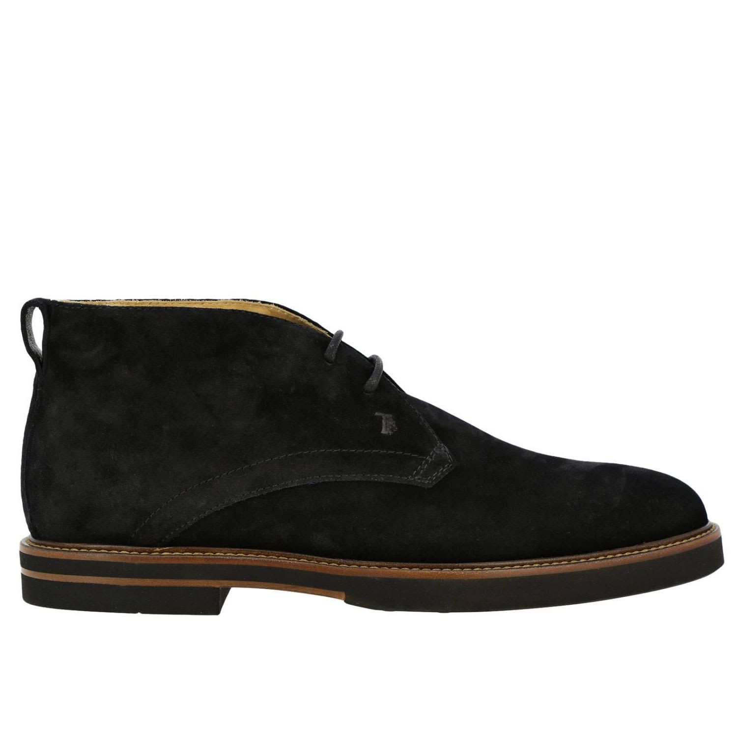 Tods Chukka Boots Tods Lace-up Chukka Boots In Suede With Rubber Bottom