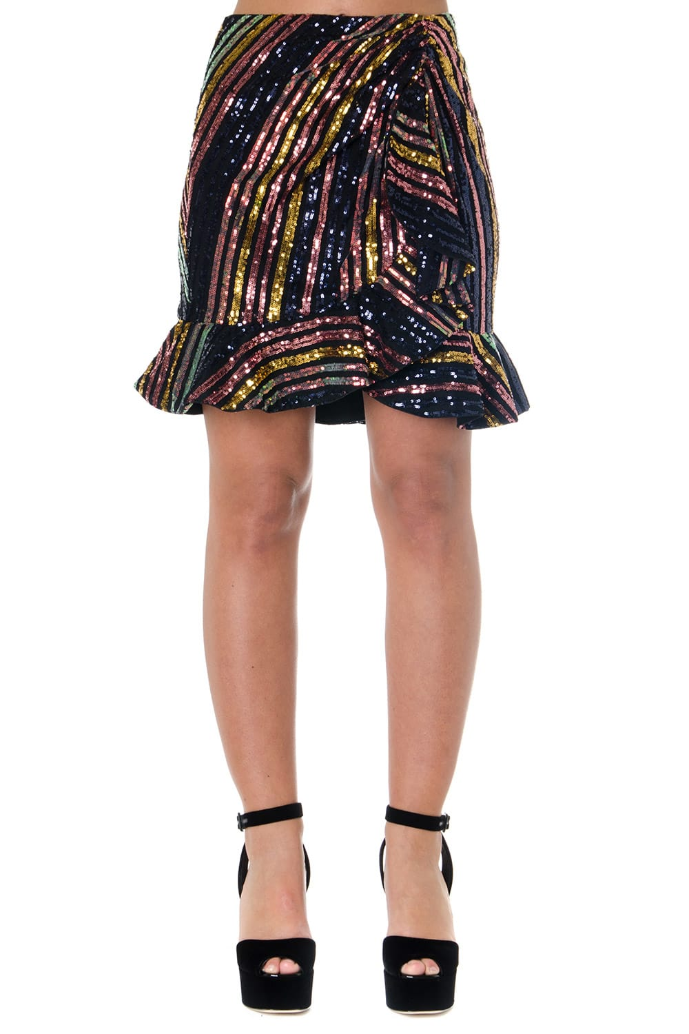 Self-Portrait MULTICOLOR SEQUINED SKIRT