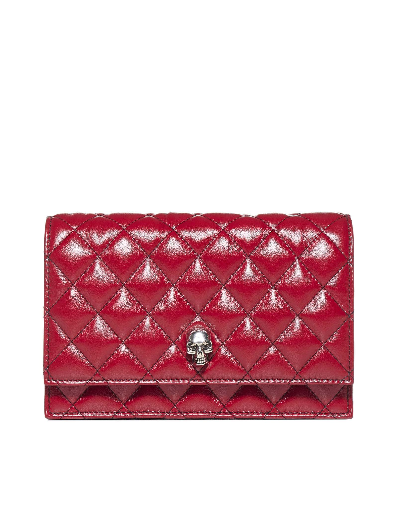 Alexander Mcqueen Leathers SKULL QUILTED LEATHER MINI BAG