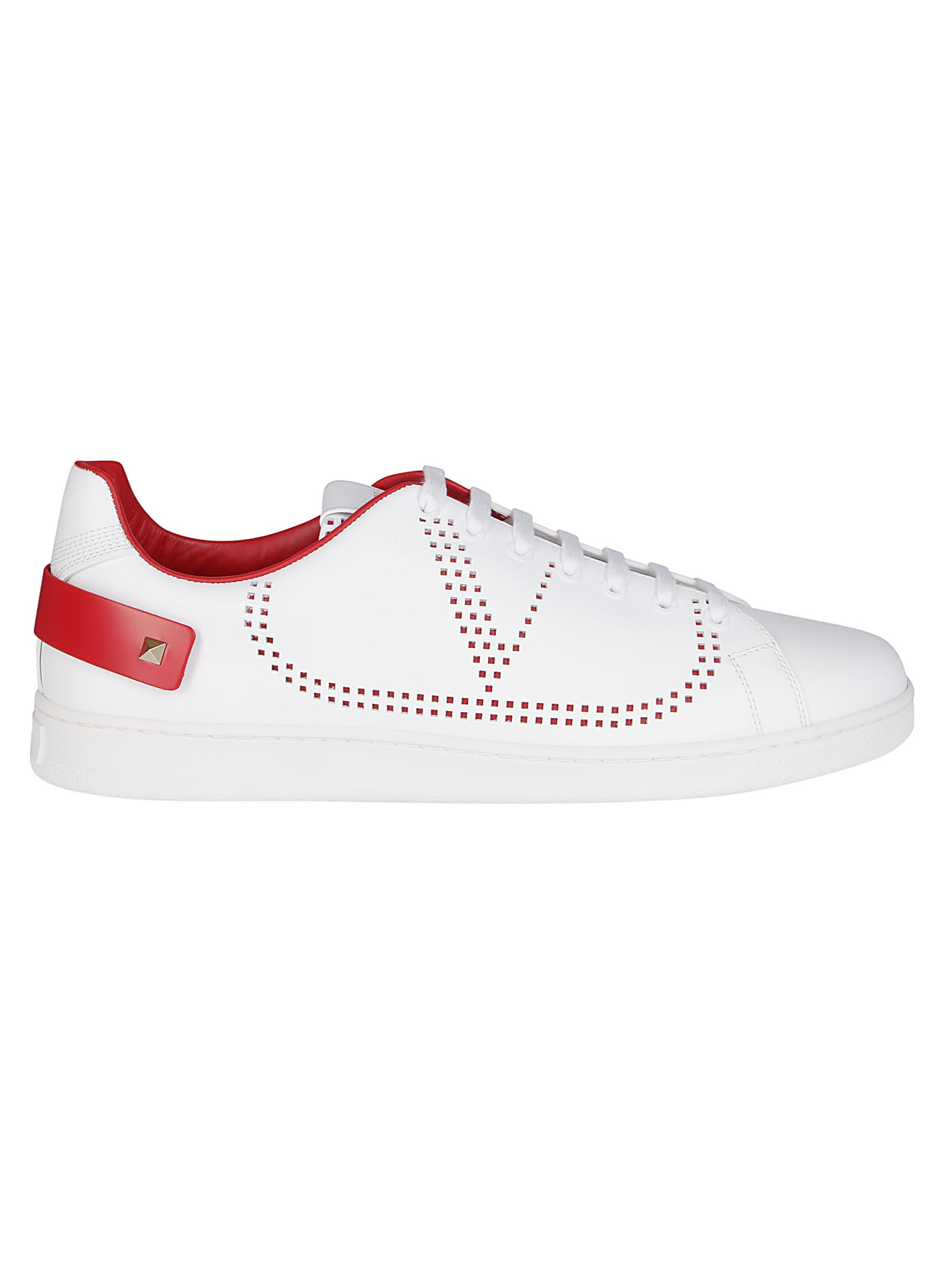 Valentino WHITE LEATHER BACKNET SNEAKERS