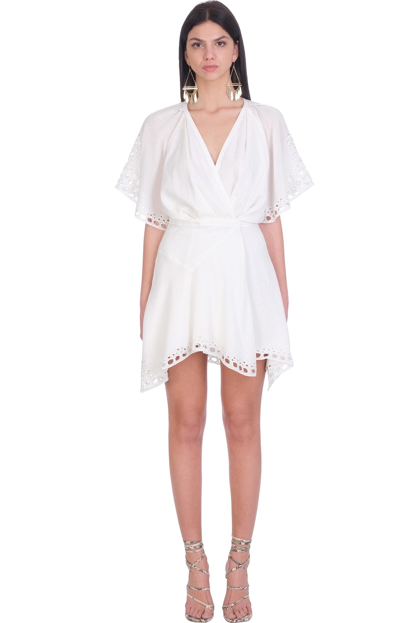 Buy IRO Devo Dress In White Cotton online, shop IRO with free shipping