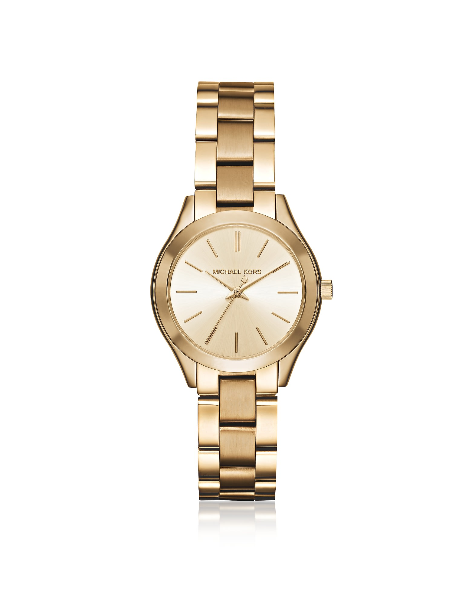 Best price on the market at italist | Michael Kors Michael Kors Mini Slim Runway Gold Tone Women's Watch